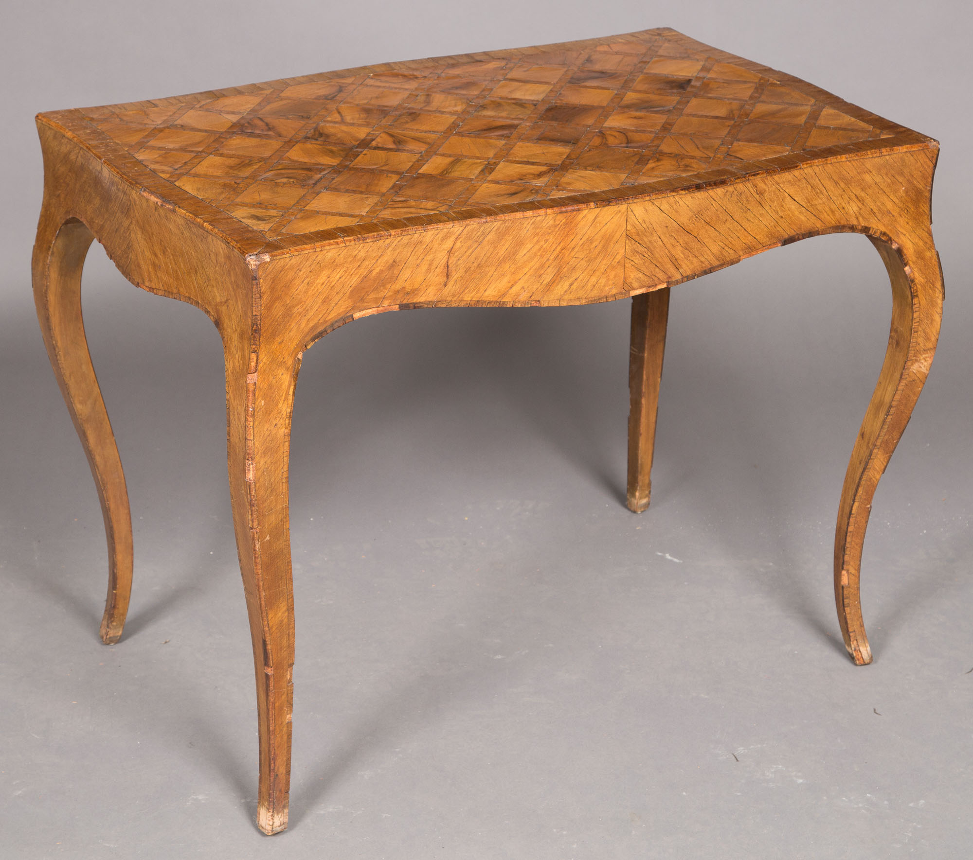 Lot image - Louis XV Style Walnut and Parquetry Low Table