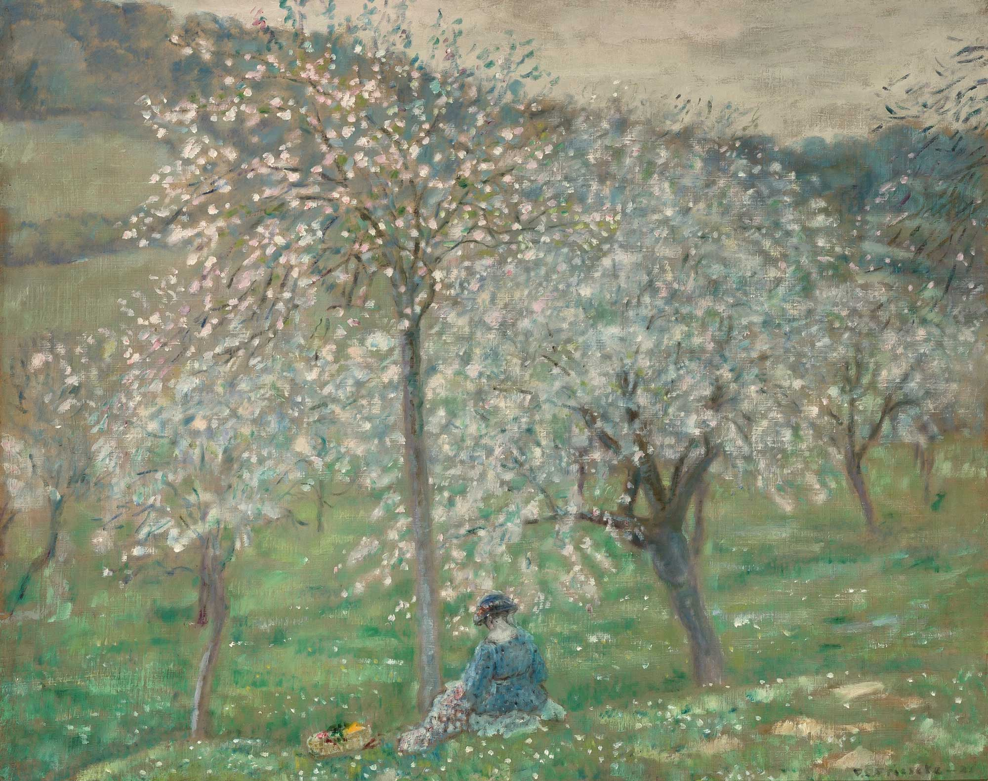 Lot image - Frederick Carl Frieseke  American, 1874-1939  The Apple Orchard