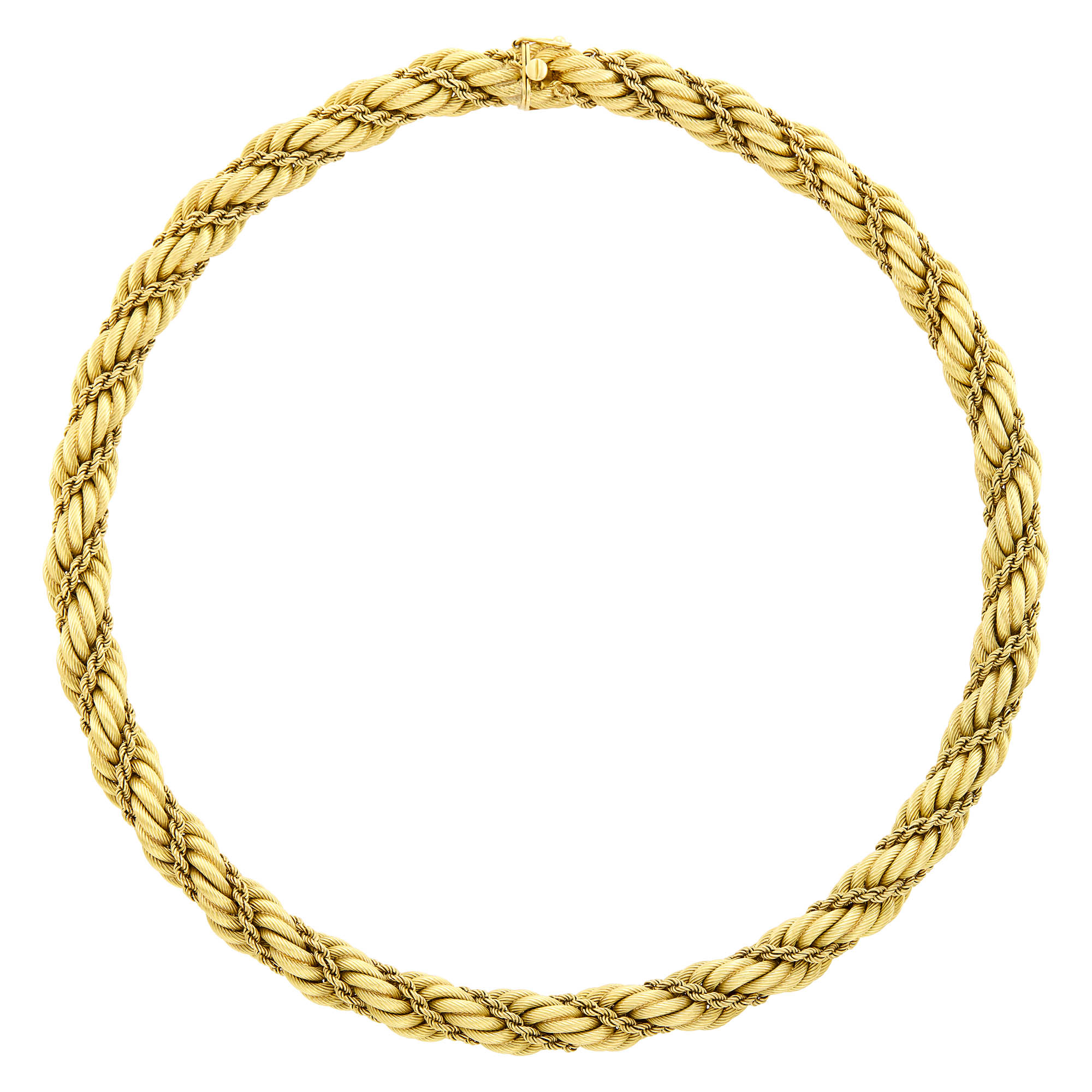 Lot image - Tiffany & Co. Gold Rope-Twist Necklace