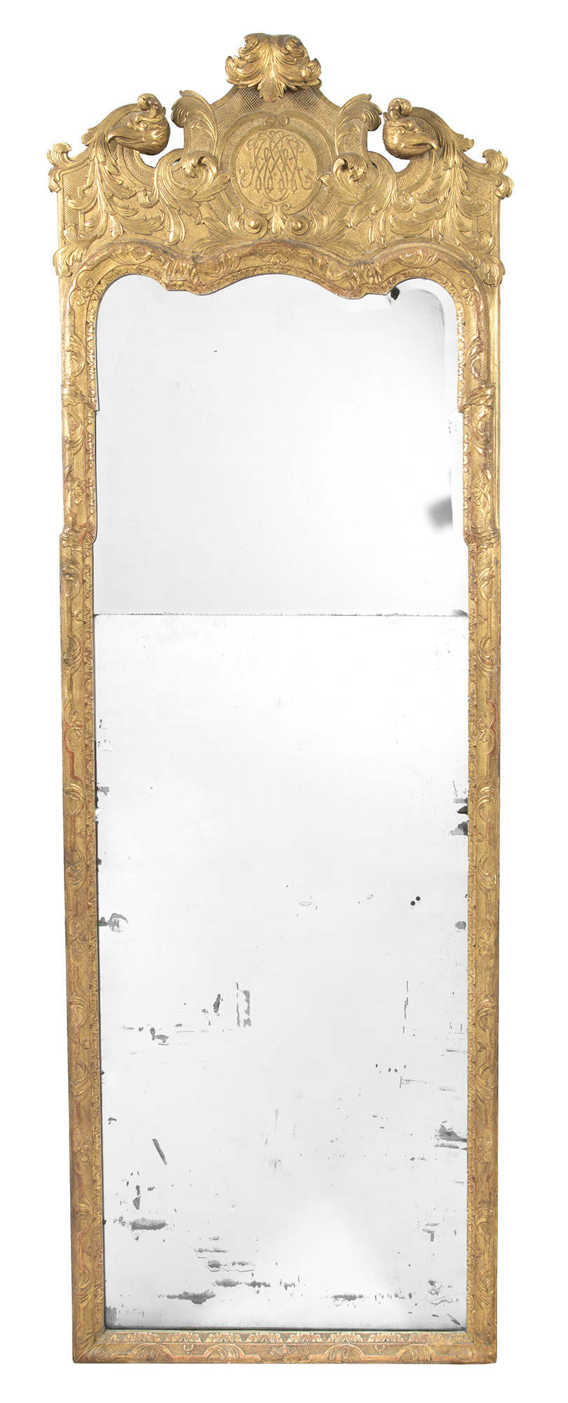 Lot image - George I Gilt-Gesso Pier Mirror