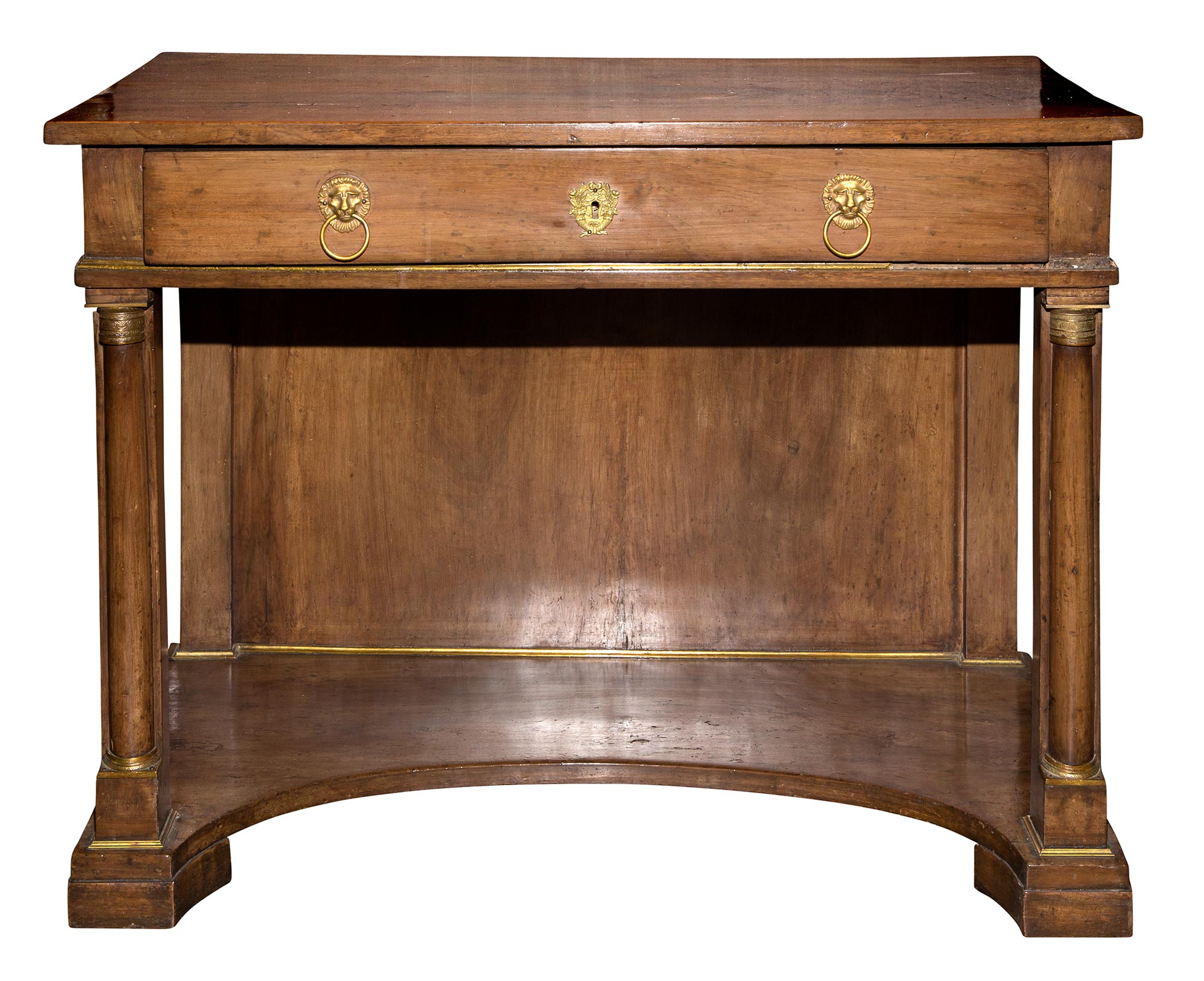 Lot image - Pair of Empire Walnut Consoles