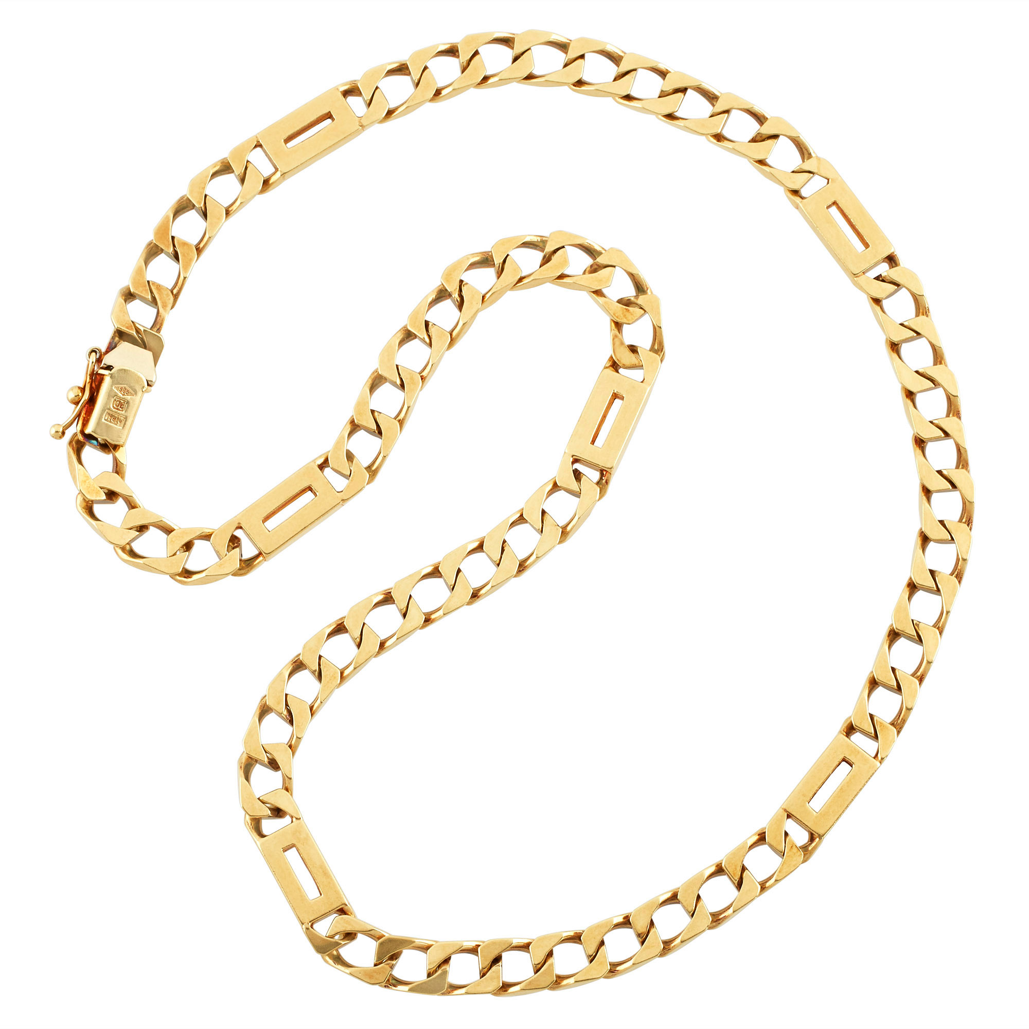 Lot image - Gold Curb Link Chain Necklace