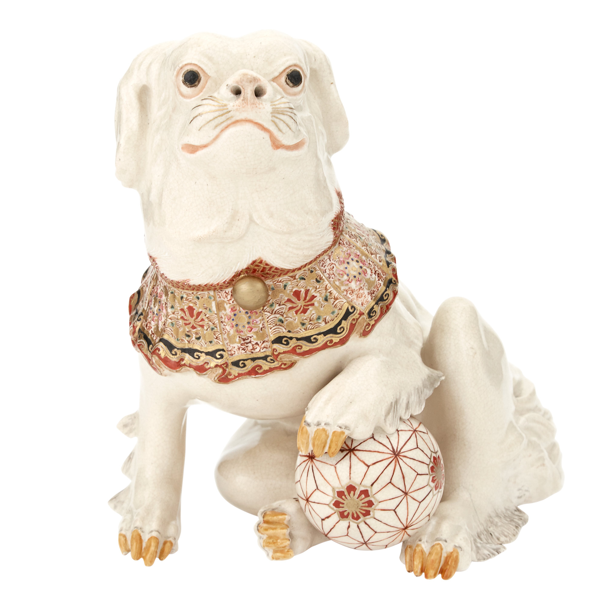 Lot image - Japanese Satsuma Figure of a Dog