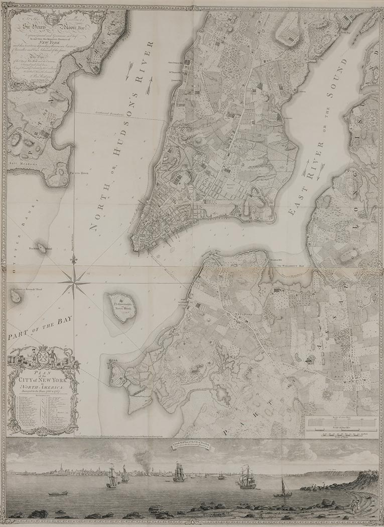 Lot image - RATZER, BERNARD  Plan of the City of New York in North America, surveyed in the years 1766 & 1767.