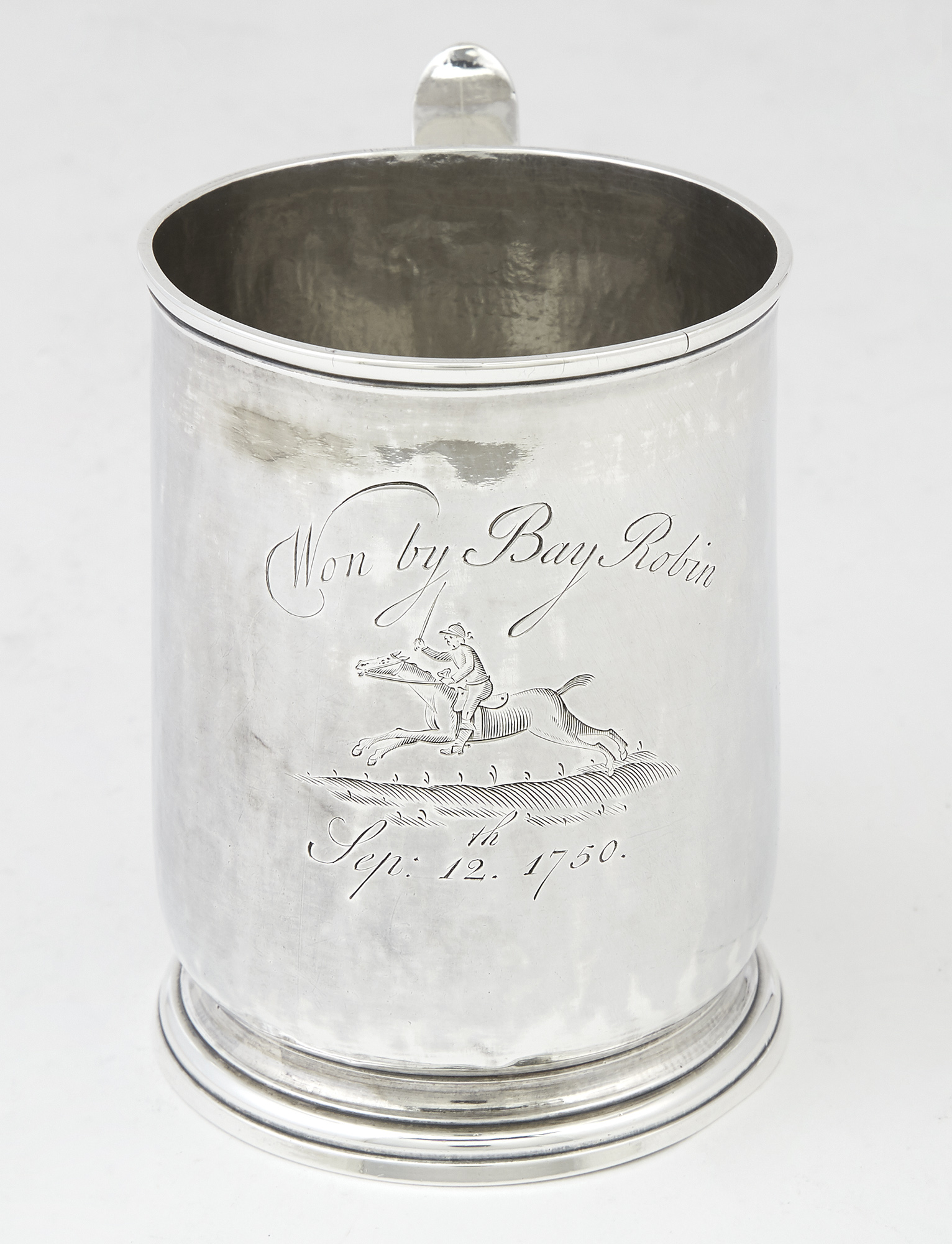 Lot image - Horse Racing Interest: George II Sterling Silver Mug