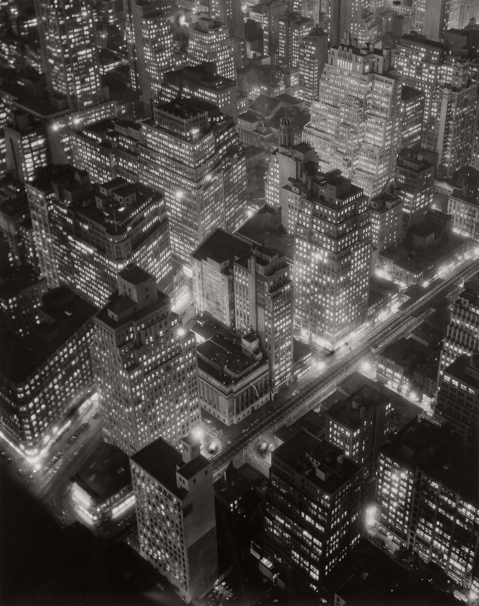 Lot image - ABBOTT, BERENICE (1898-1991)  New York at Night,