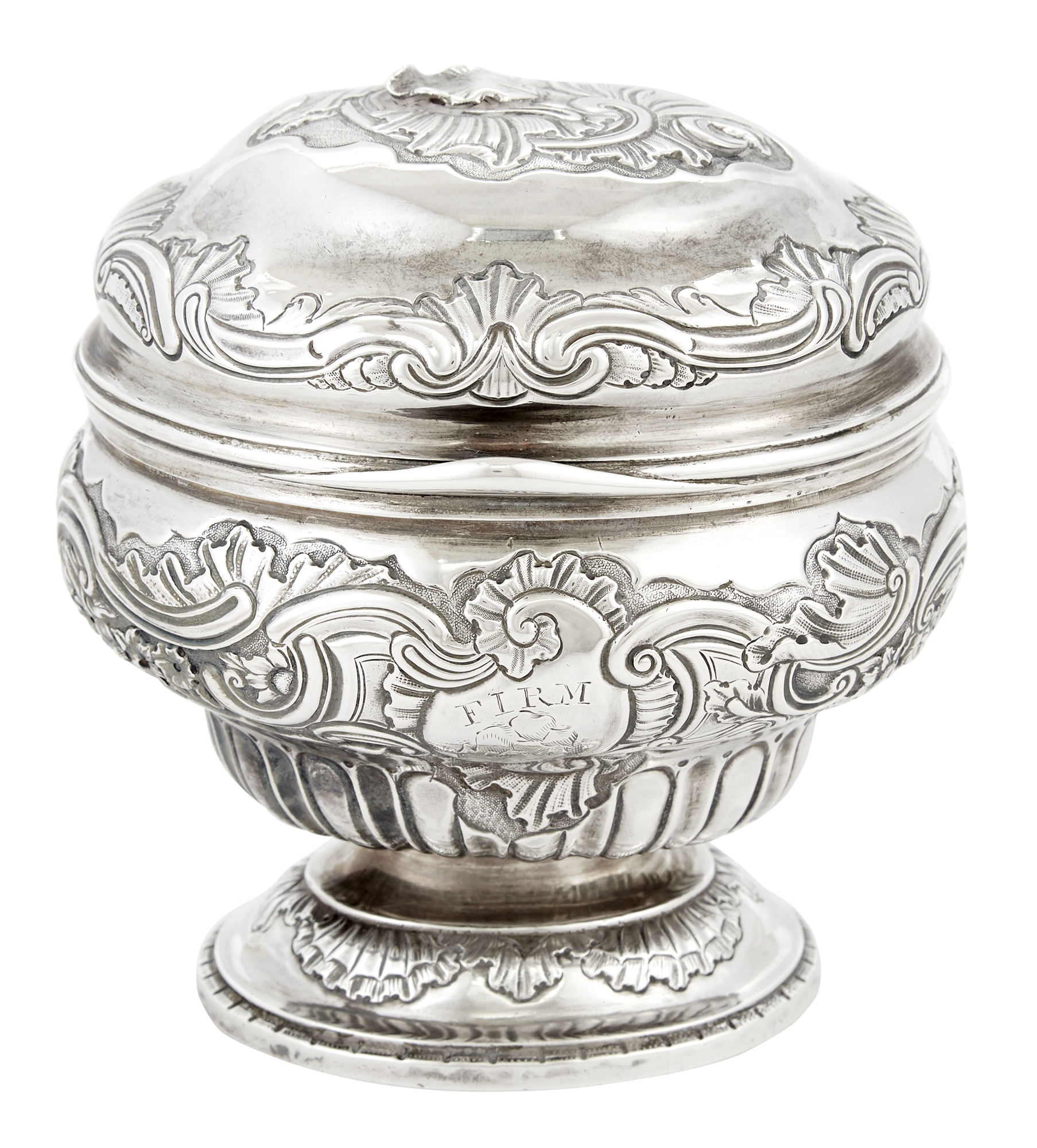 Lot image - George II Sterling Silver Tea Caddy