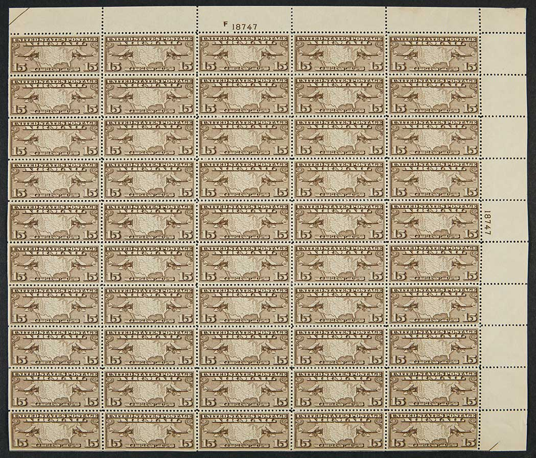 Lot image - United States Air Post Sheet Group