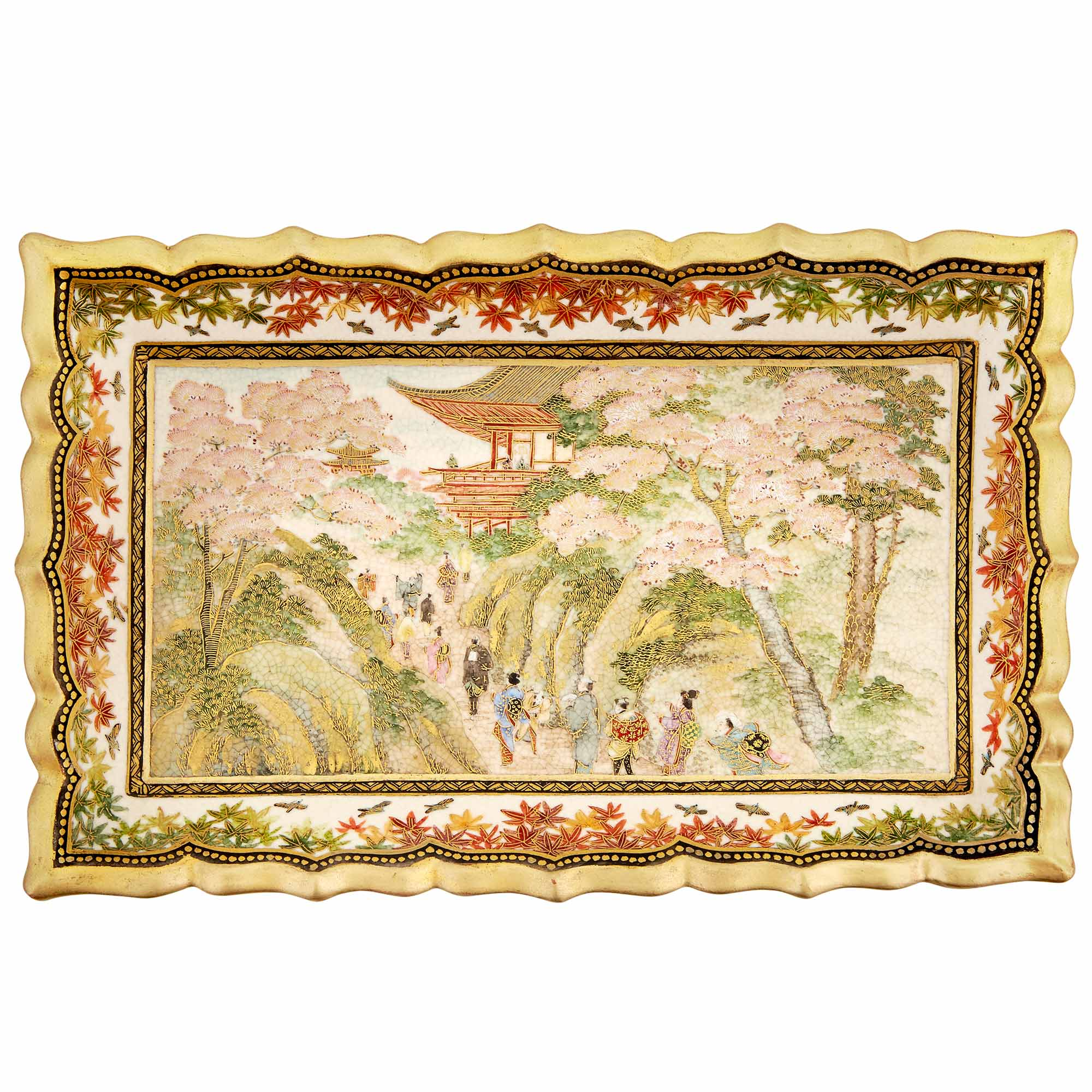 Lot image - Japanese Satsuma Tray
