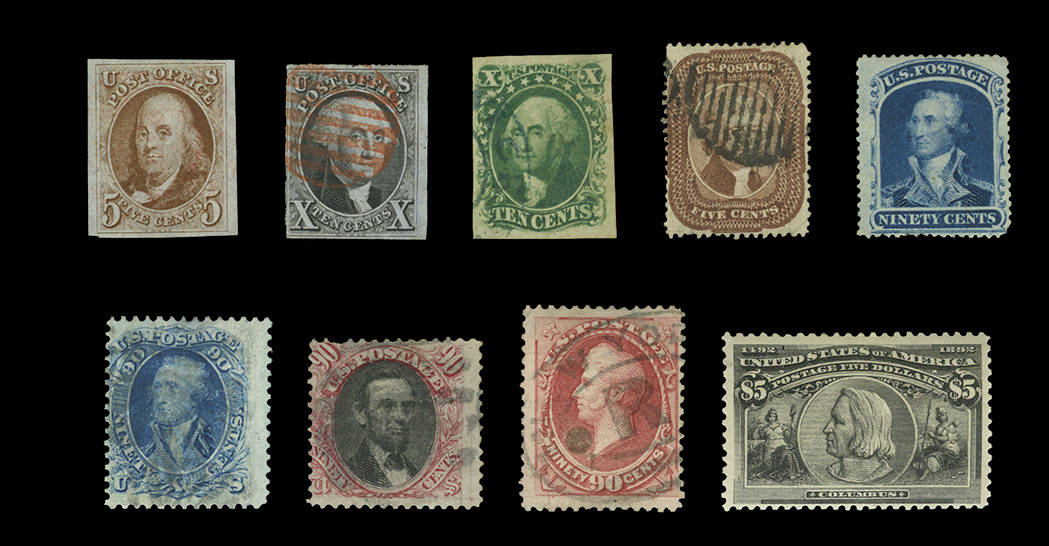 Lot image - United States Collection of Early Stamp Issues
