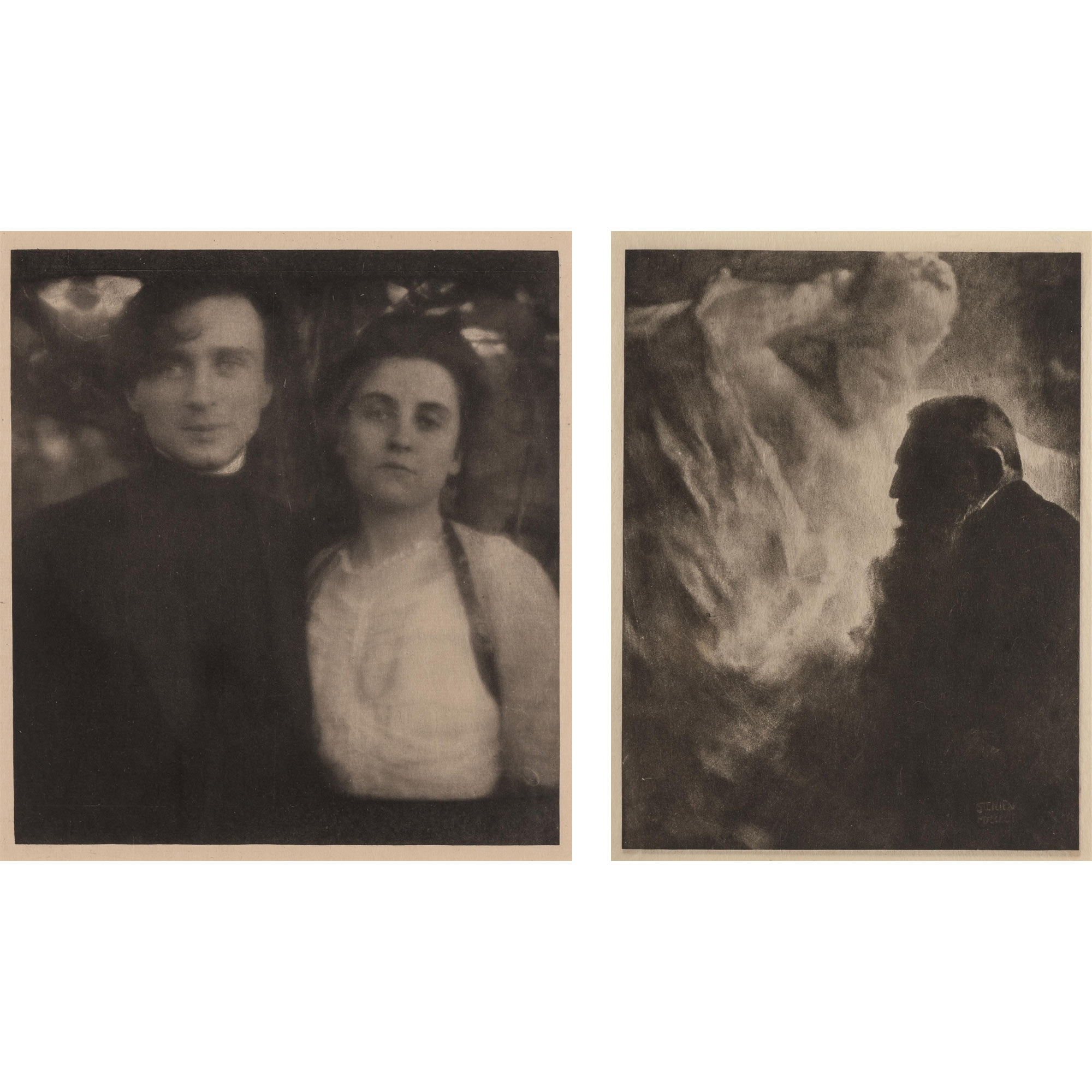 Lot image - STEICHEN, EDWARD  Two photogravures from Camera Work.