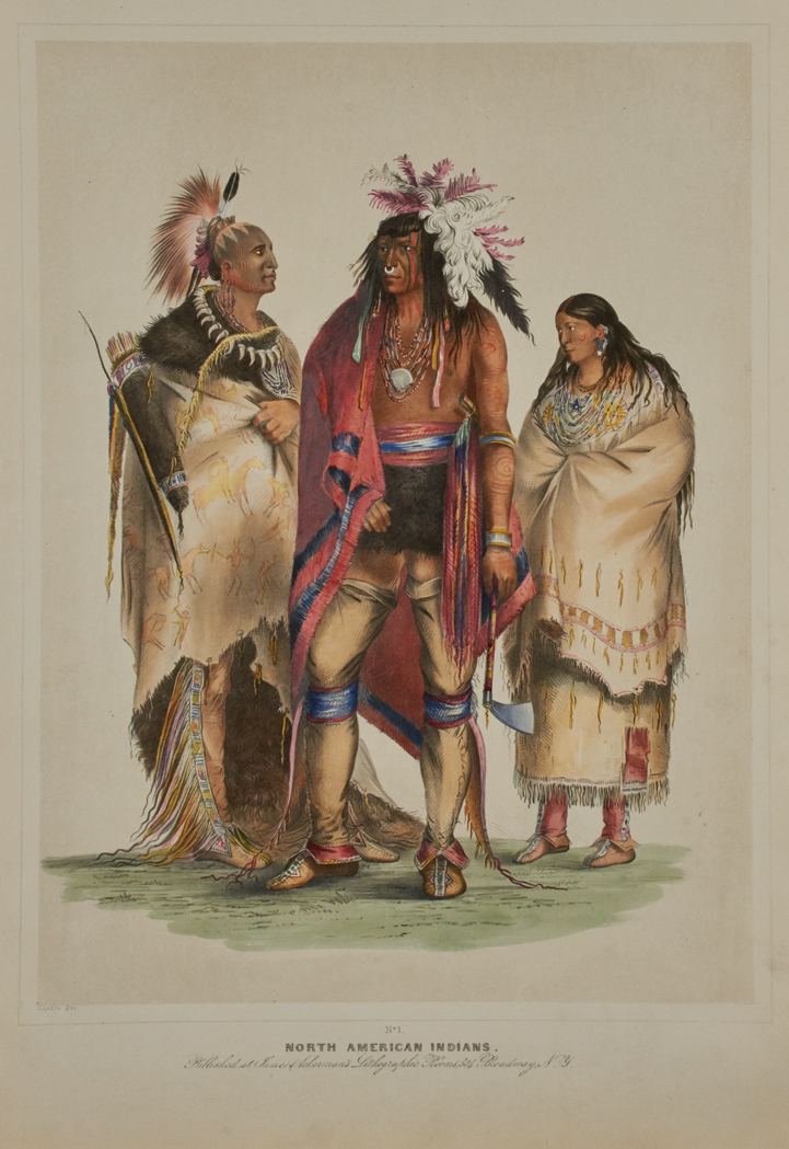 Lot image - CATLIN, GEORGE Catlins North American Indian Portfolio. Hunting Scenes and Amusements of the Rocky Mountains and Prairies of America.