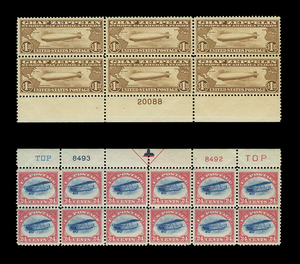 Lot image - United States Air Mail Plate Blocks