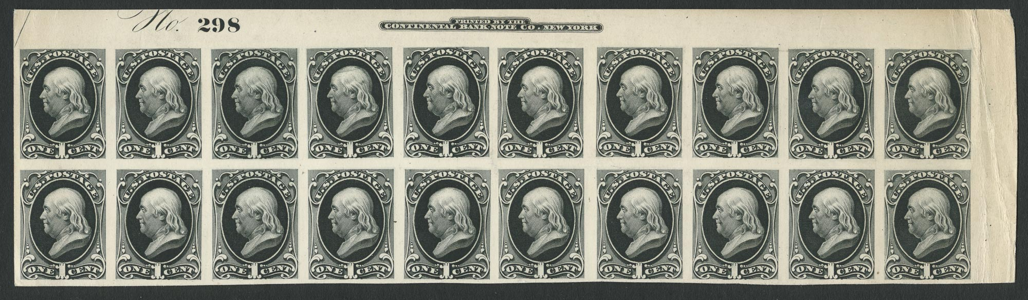 Lot image - United States One Cent Bank Note Proof, Sc. Type A44