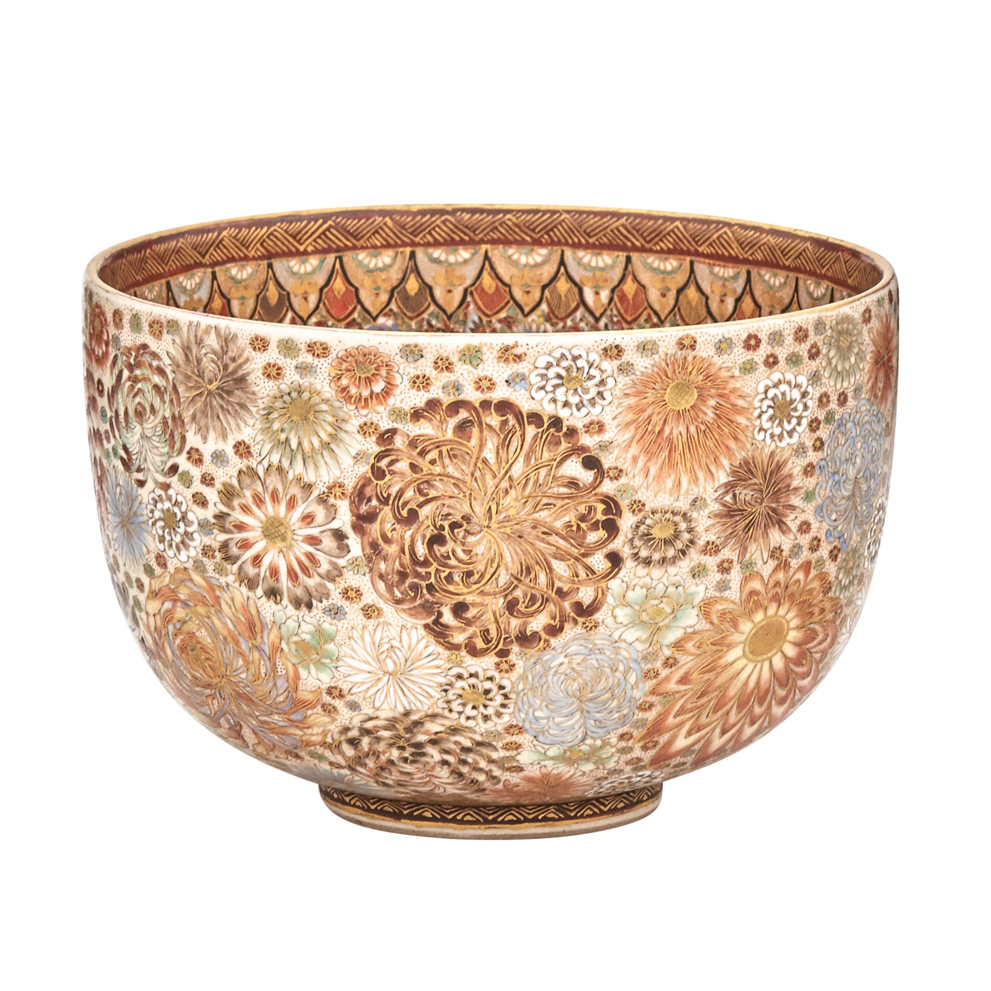 Lot image - Japanese Satsuma Deep Bowl