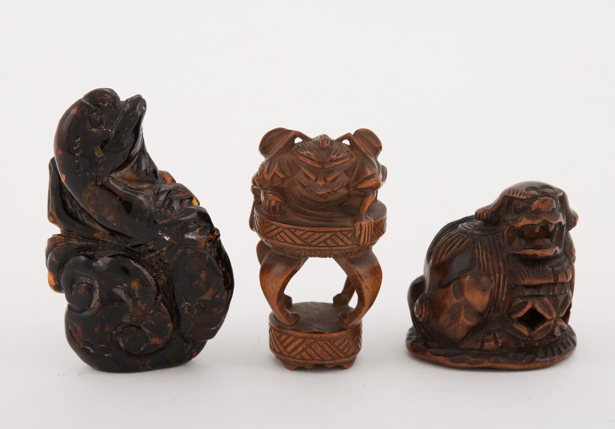 Lot image - Two Japanese Boxwood Netsuke