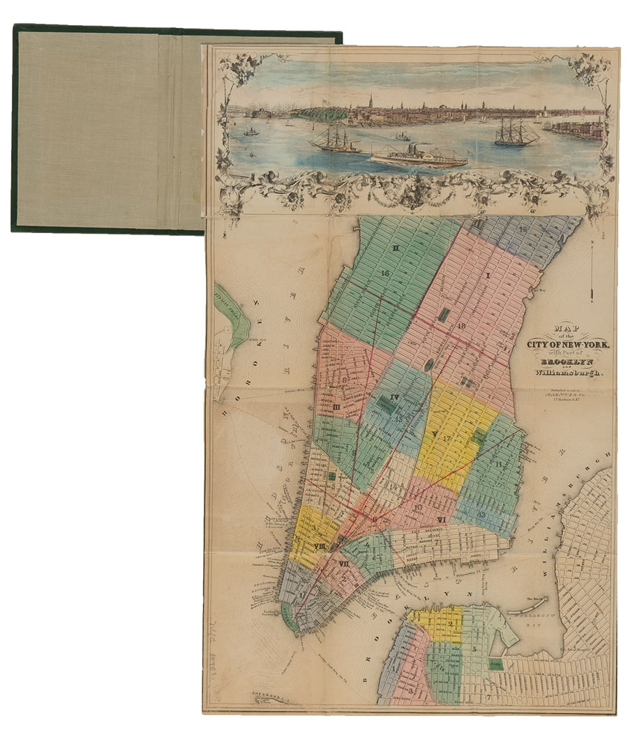 Lot image - [NEW YORK - MAPS, GUIDES & DIRECTORIES]  Group of antiquarian volumes, 1840-1856