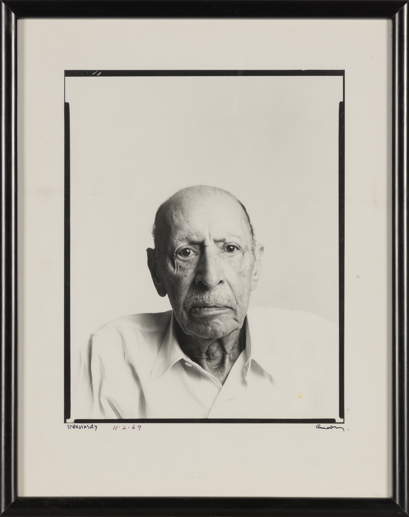 Lot image - AVEDON, RICHARD (1923-2004)  Stravinsky,