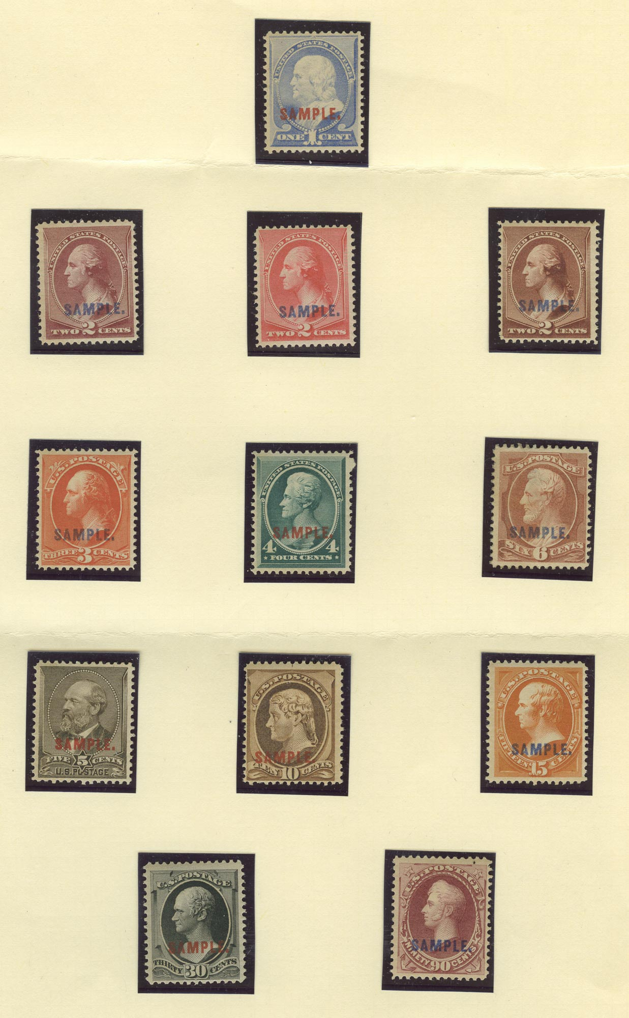 Lot image - United States Proof Stamp Group