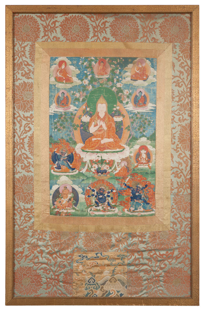 Lot image - Tibetan Thangka Depicting Tsongkapa