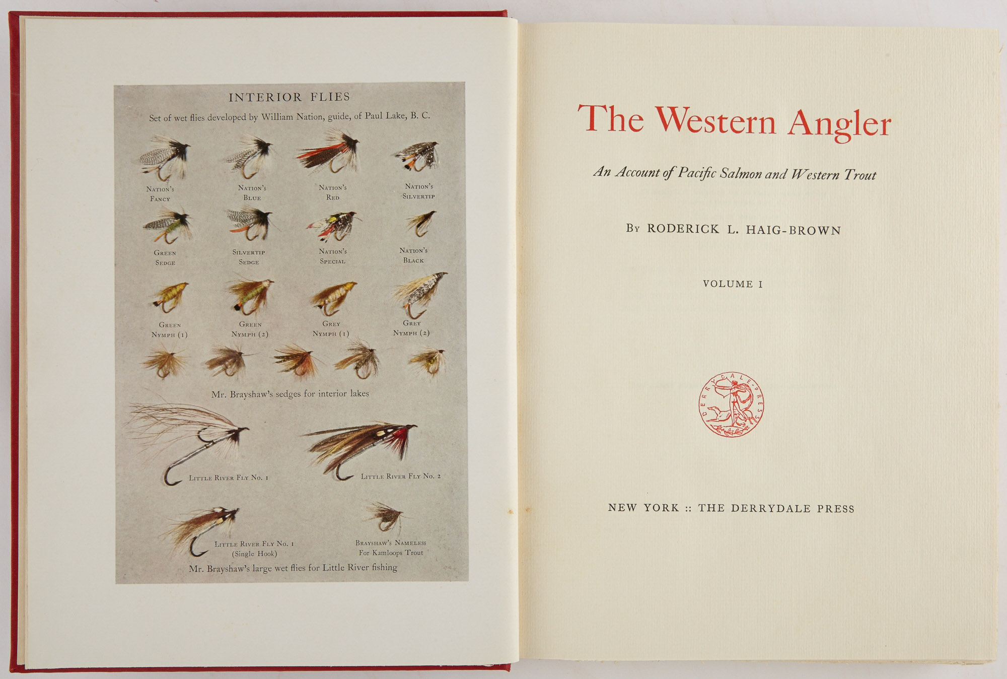 Lot image - HAIG-BROWN, RODERICK L.  The Western Angler. An Account of Pacific Salmon and Western Trout.
