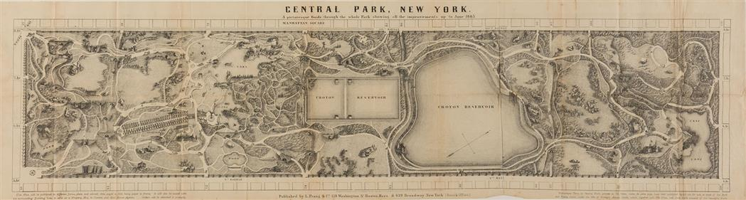 Lot image - [CENTRAL PARK]  RICHARDS, T. ADDISON. Guide to The Central Park.