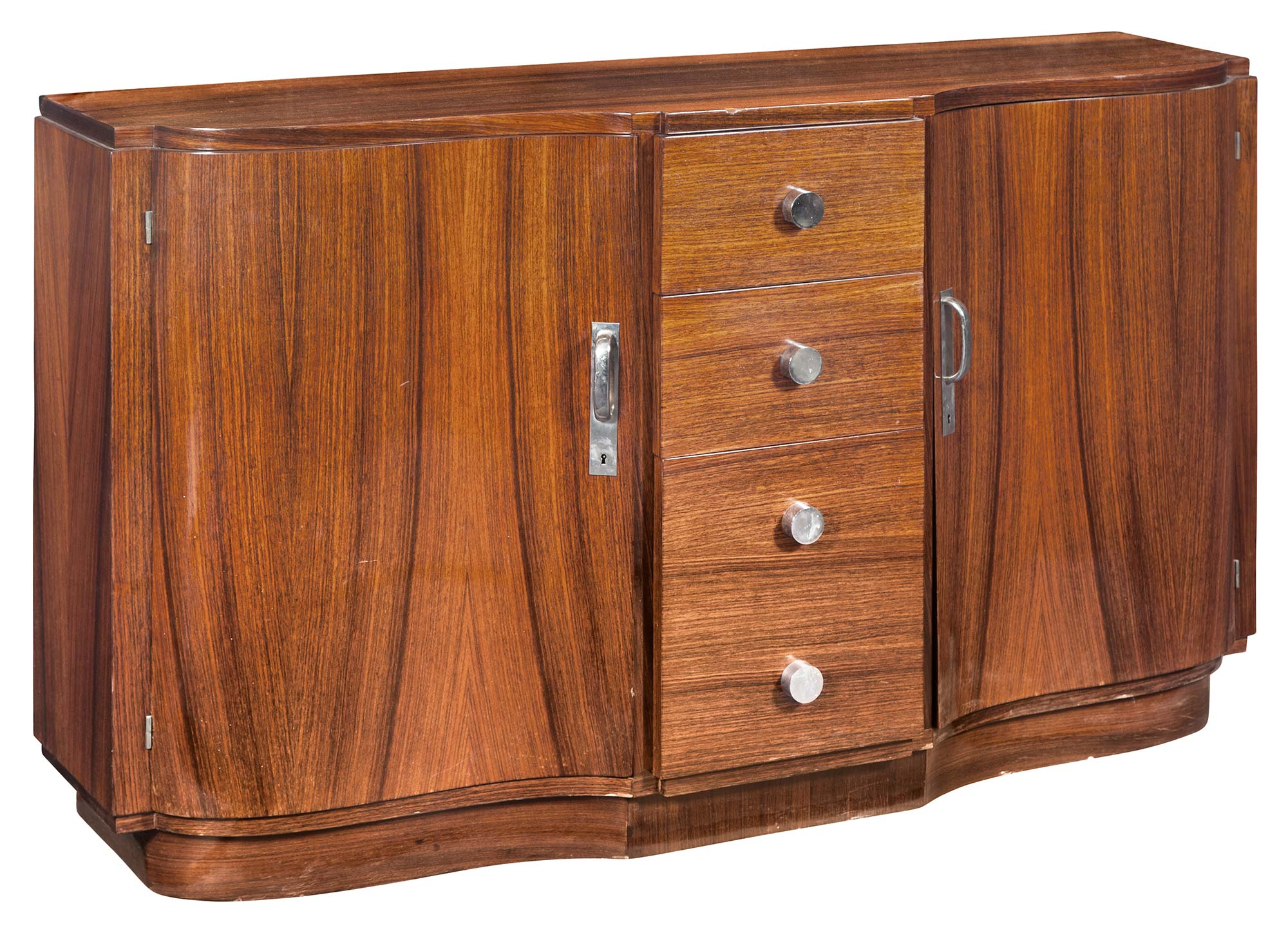 Lot image - Art Deco Rosewood Cabinet