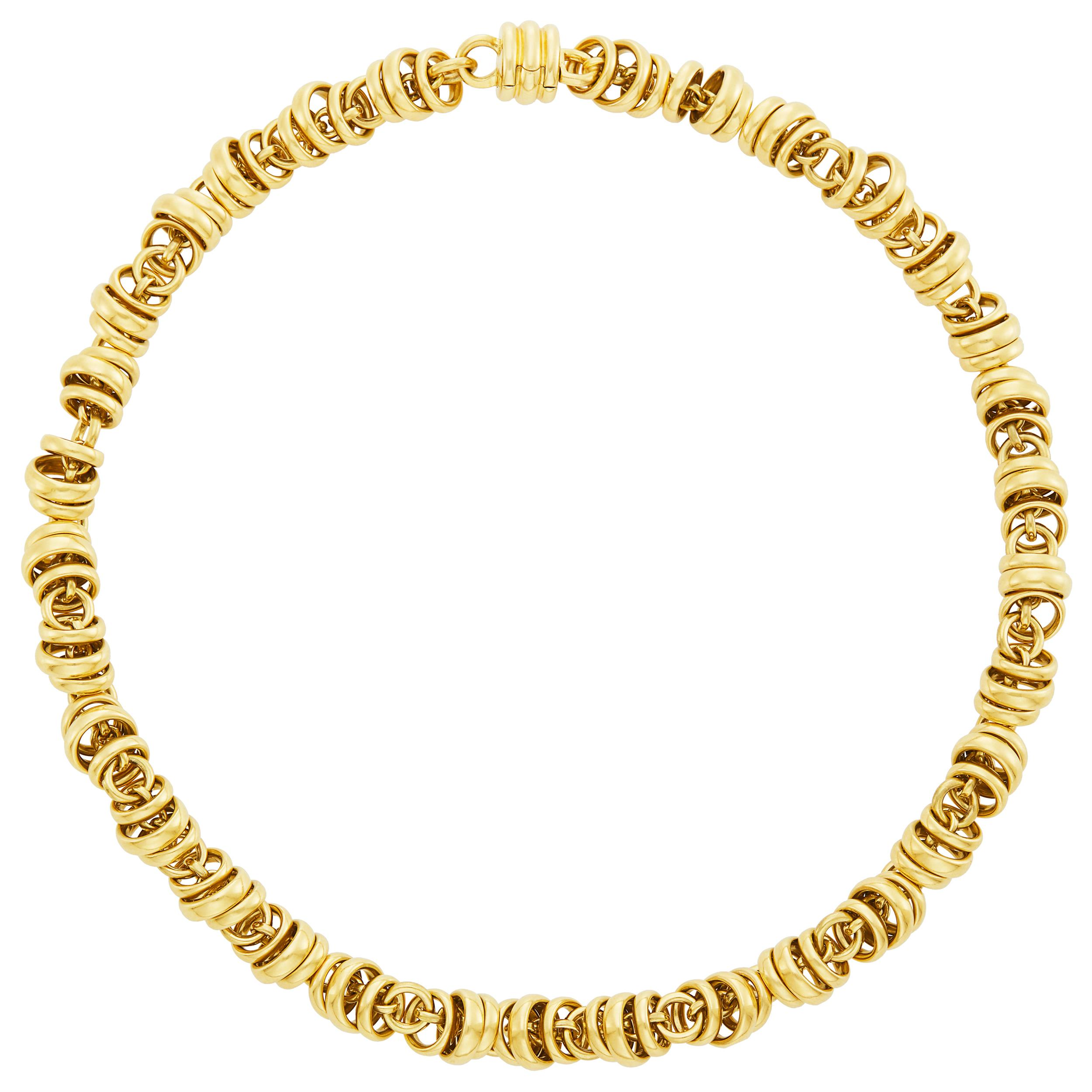 Lot image - Pomellato Gold Rings Necklace, France