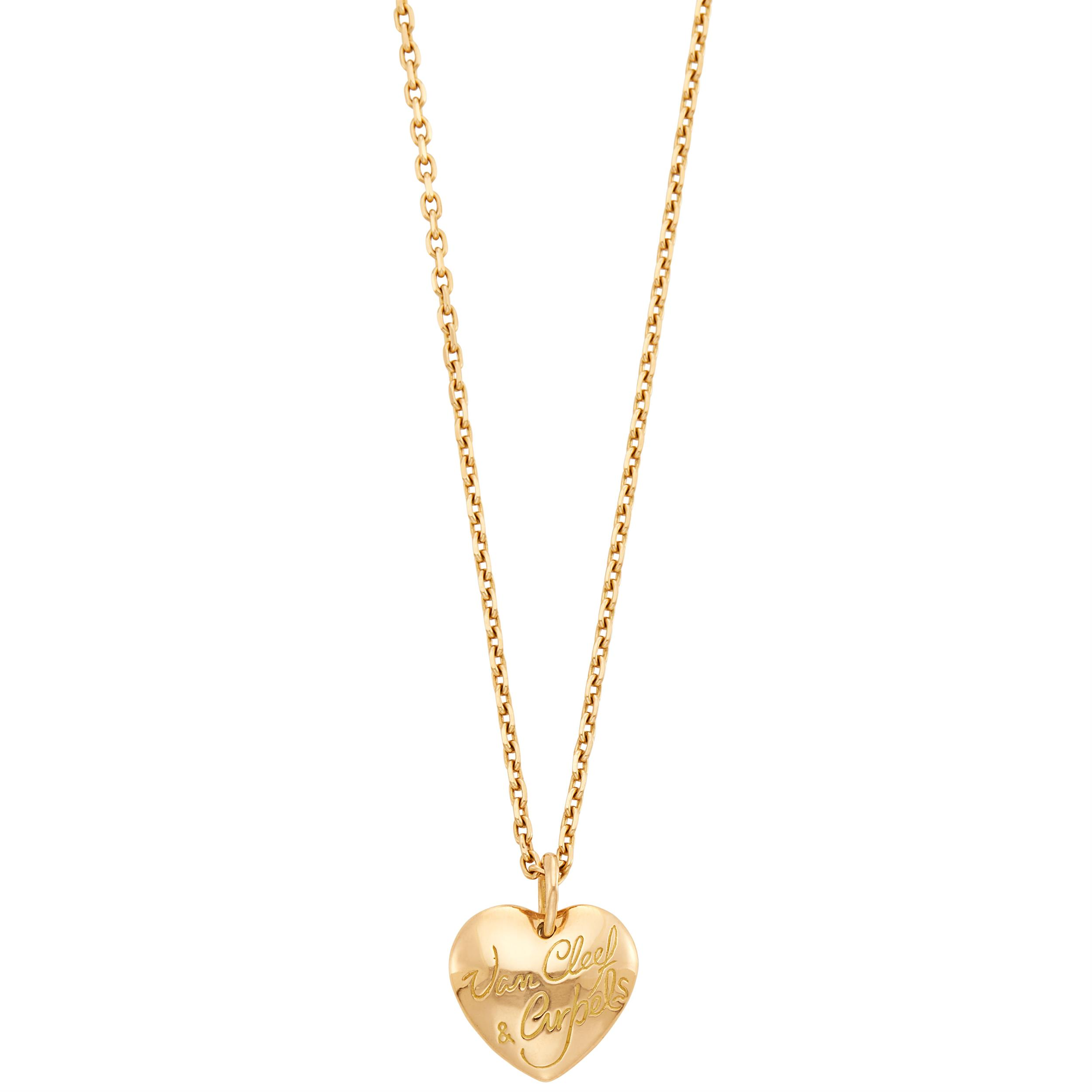 Lot image - Van Cleef & Arpels Gold Heart Pendant-Necklace
