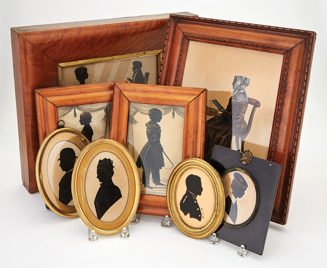 Lot image - Group of Eight Silhouettes