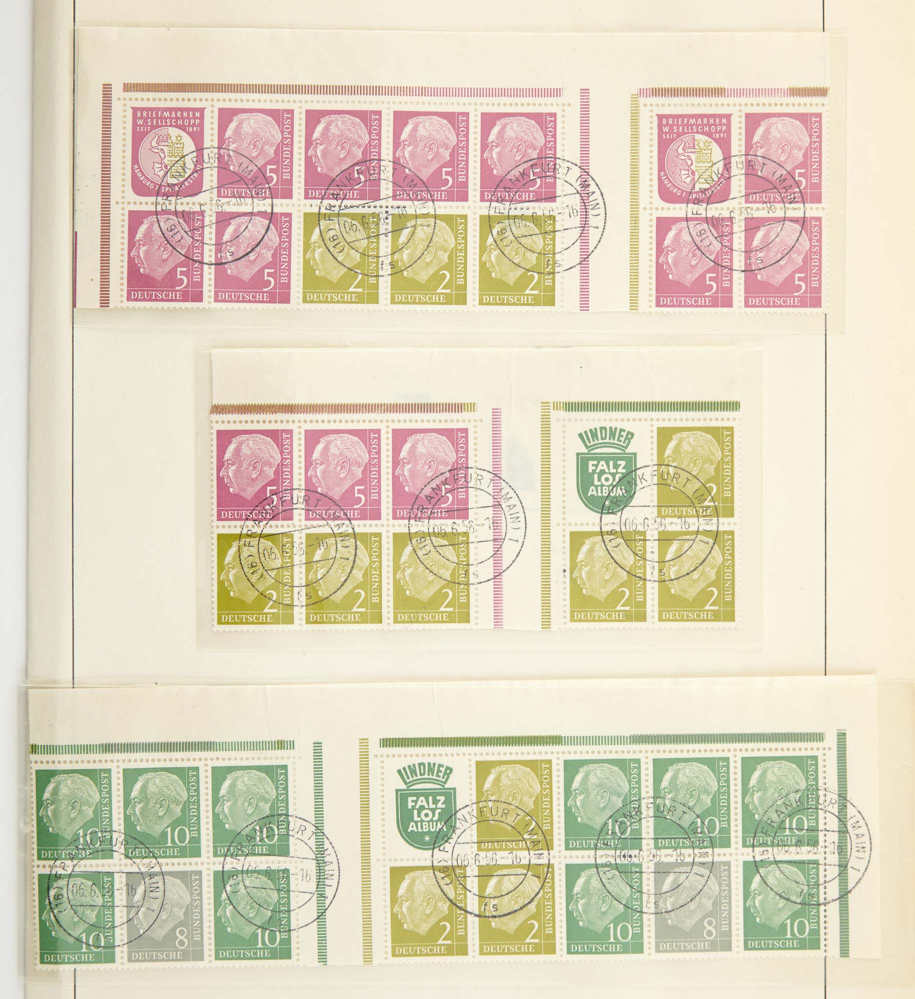 Lot image - German Tete-Beche, Se-Tenant Pairs and Booklet Panes