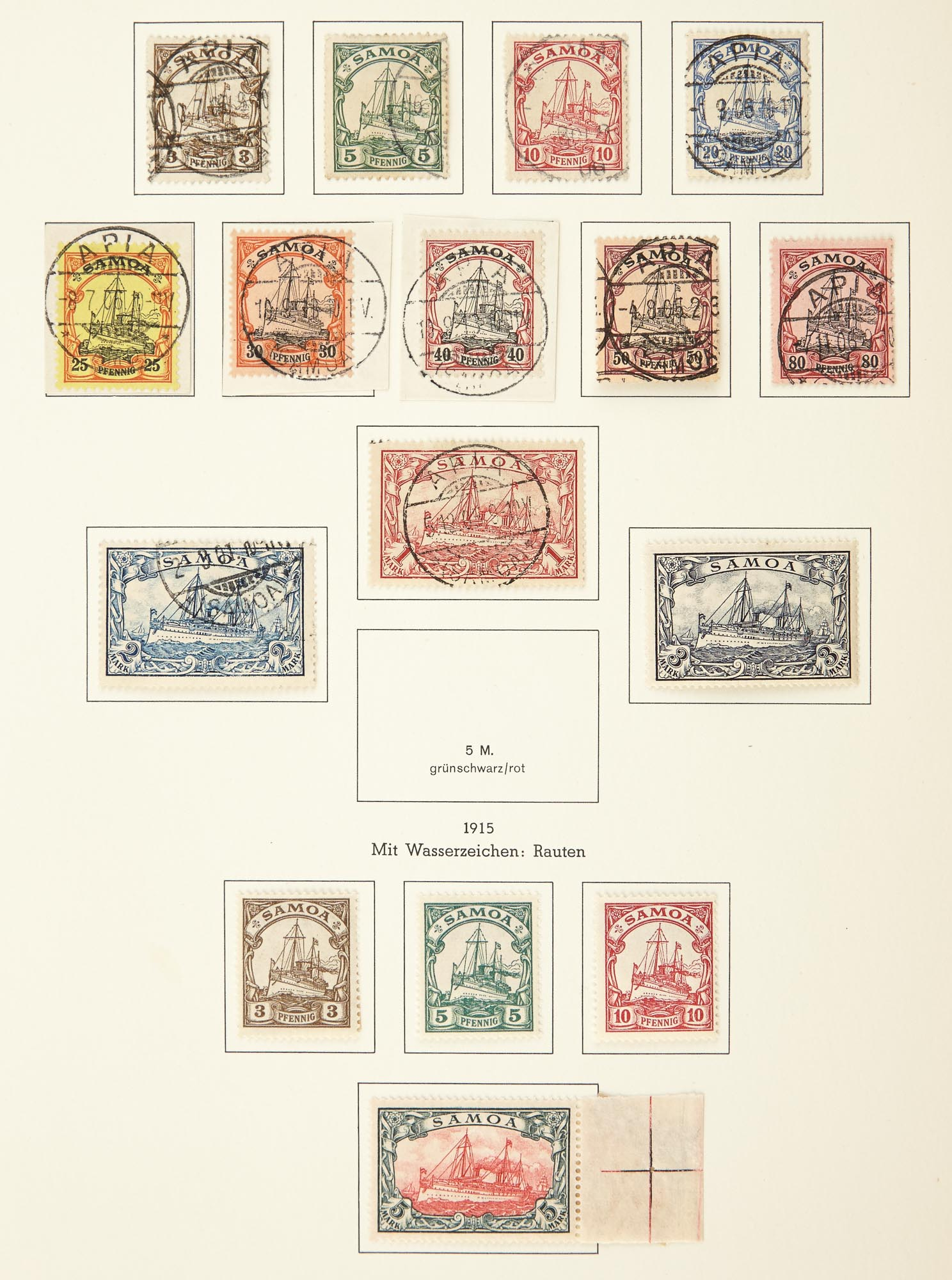 Lot image - German Offices Abroad and Colonies Postage Stamp Collection