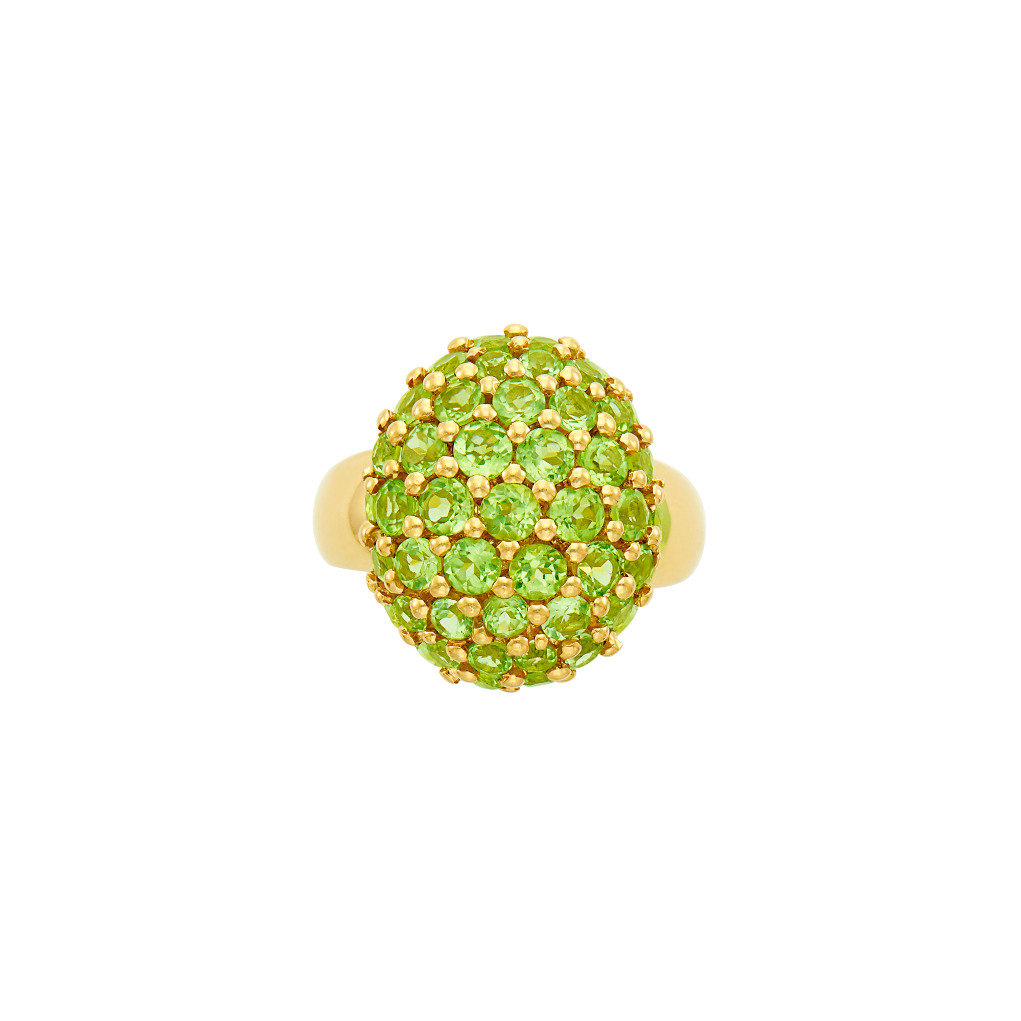 Lot image - Gold and Peridot Dome Ring, Salavetti