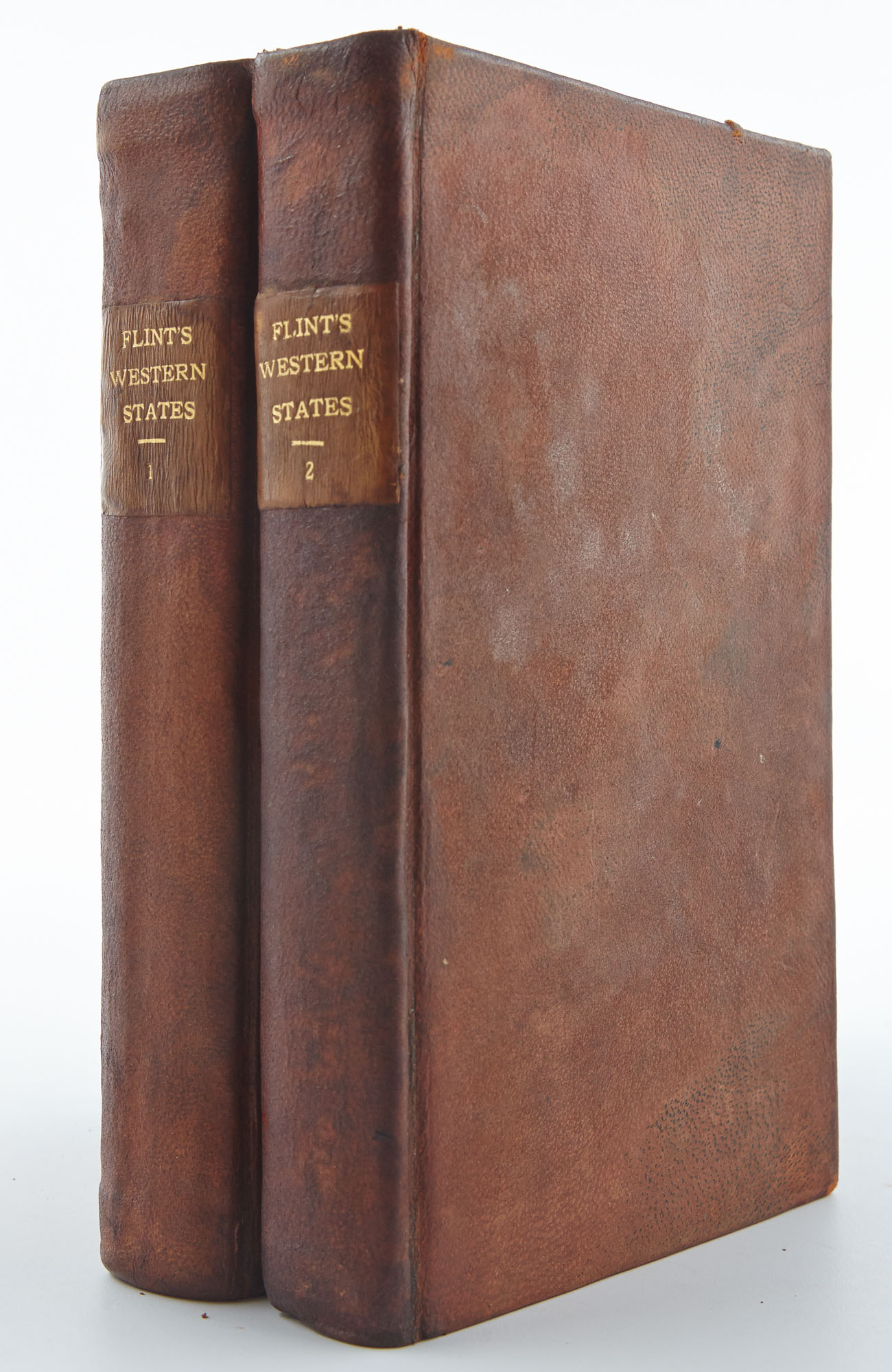 Lot image - FLINT, TIMOTHY  A Condensed Geography and History of the Western States, or the Mississippi Valley.