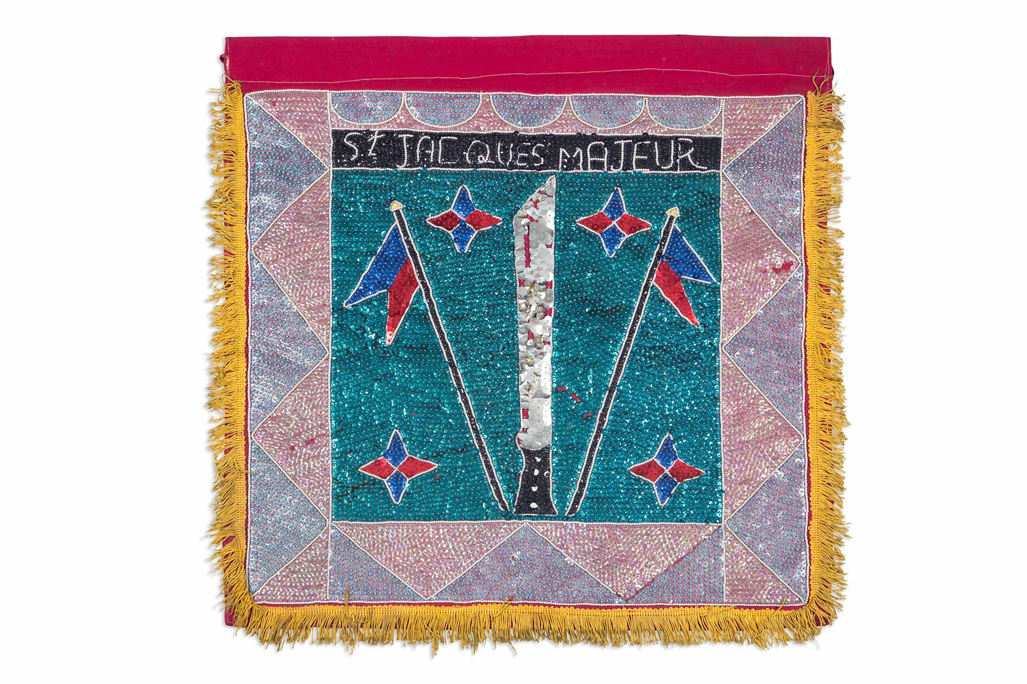 Lot image - Haitian St. Jacques Majeur Voodoo Flag