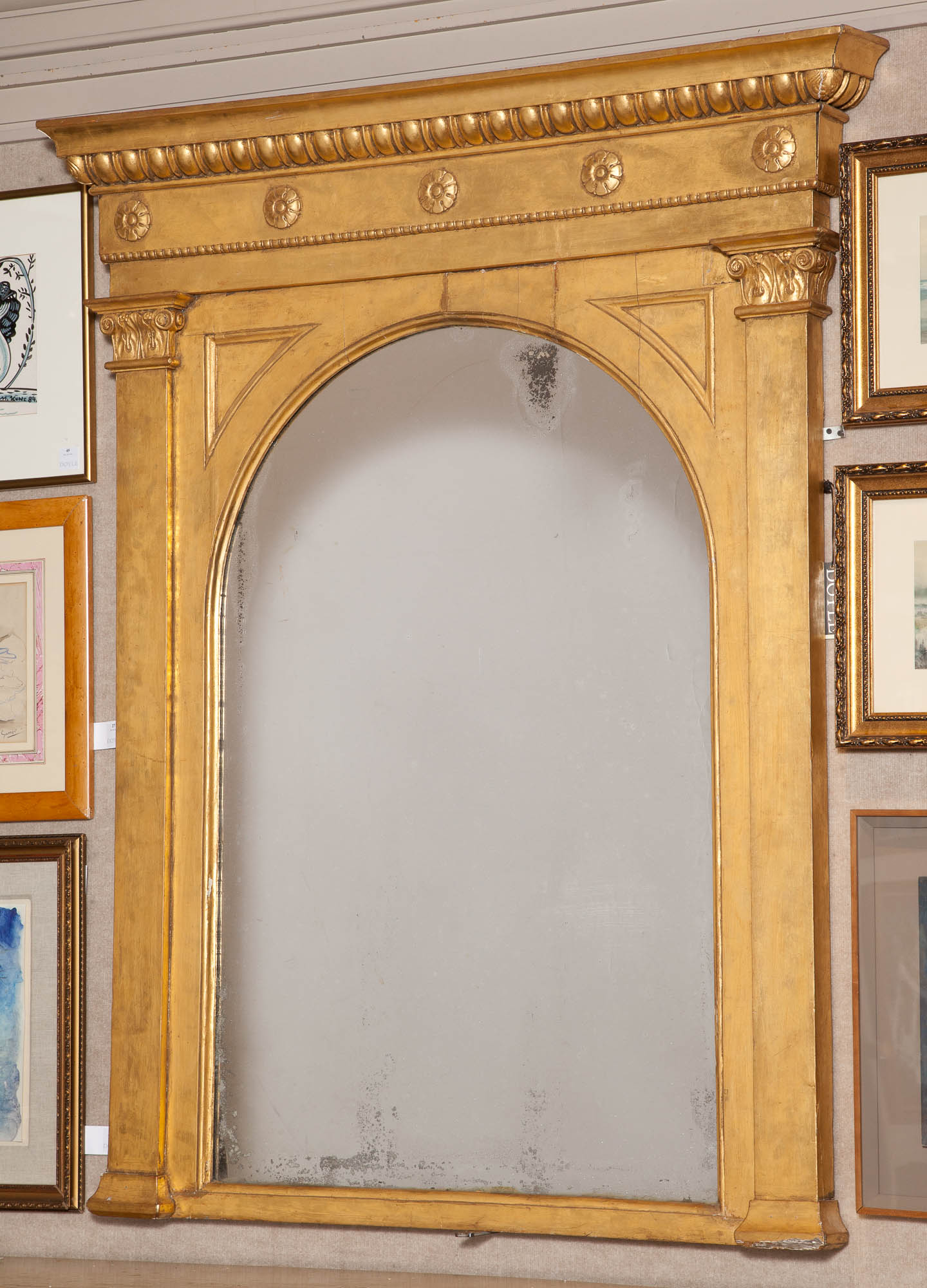 Lot image - William IV Giltwood Overmantel Mirror, possibly Irish