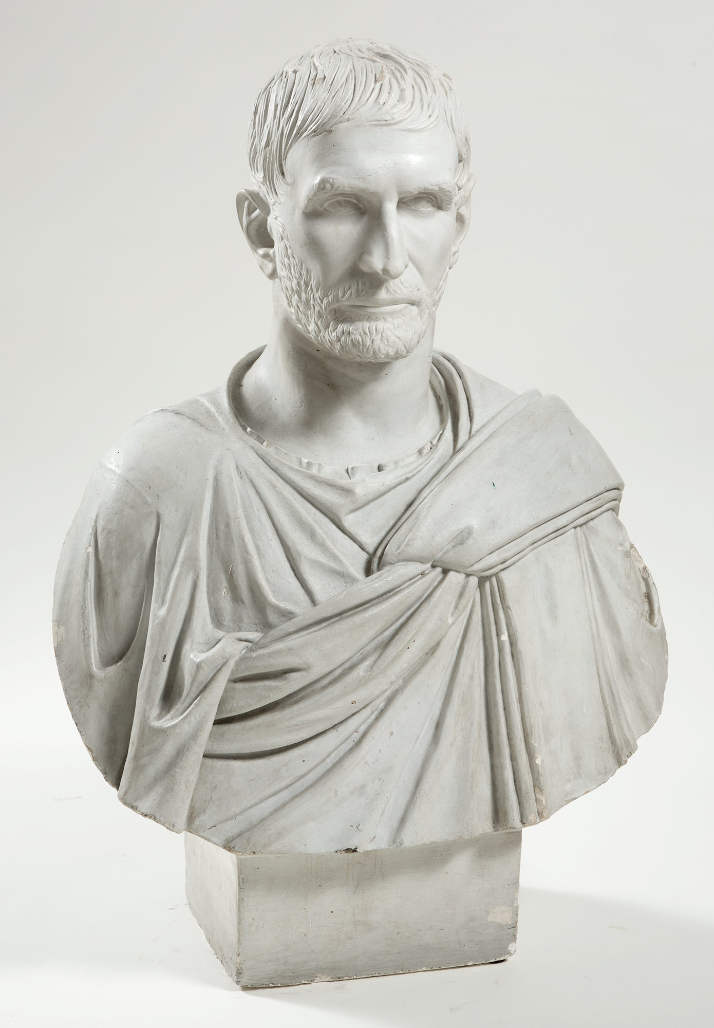 Lot image - Painted Plaster Bust of a Roman Emperor
