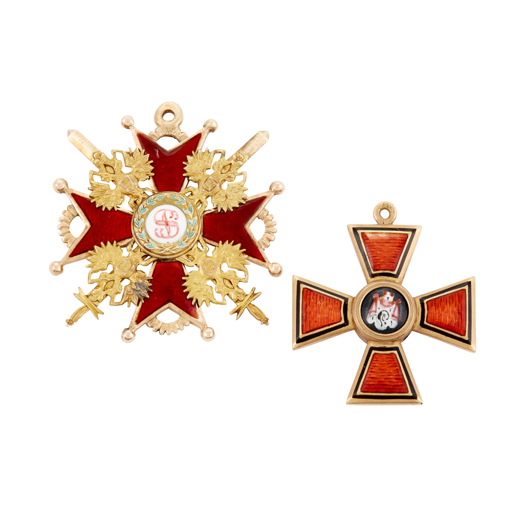 Russian Gold And Enamel Badge Of The Order Of St