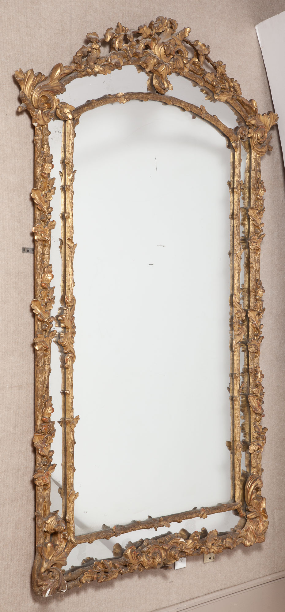 Lot image - George II Style Giltwood Mirror