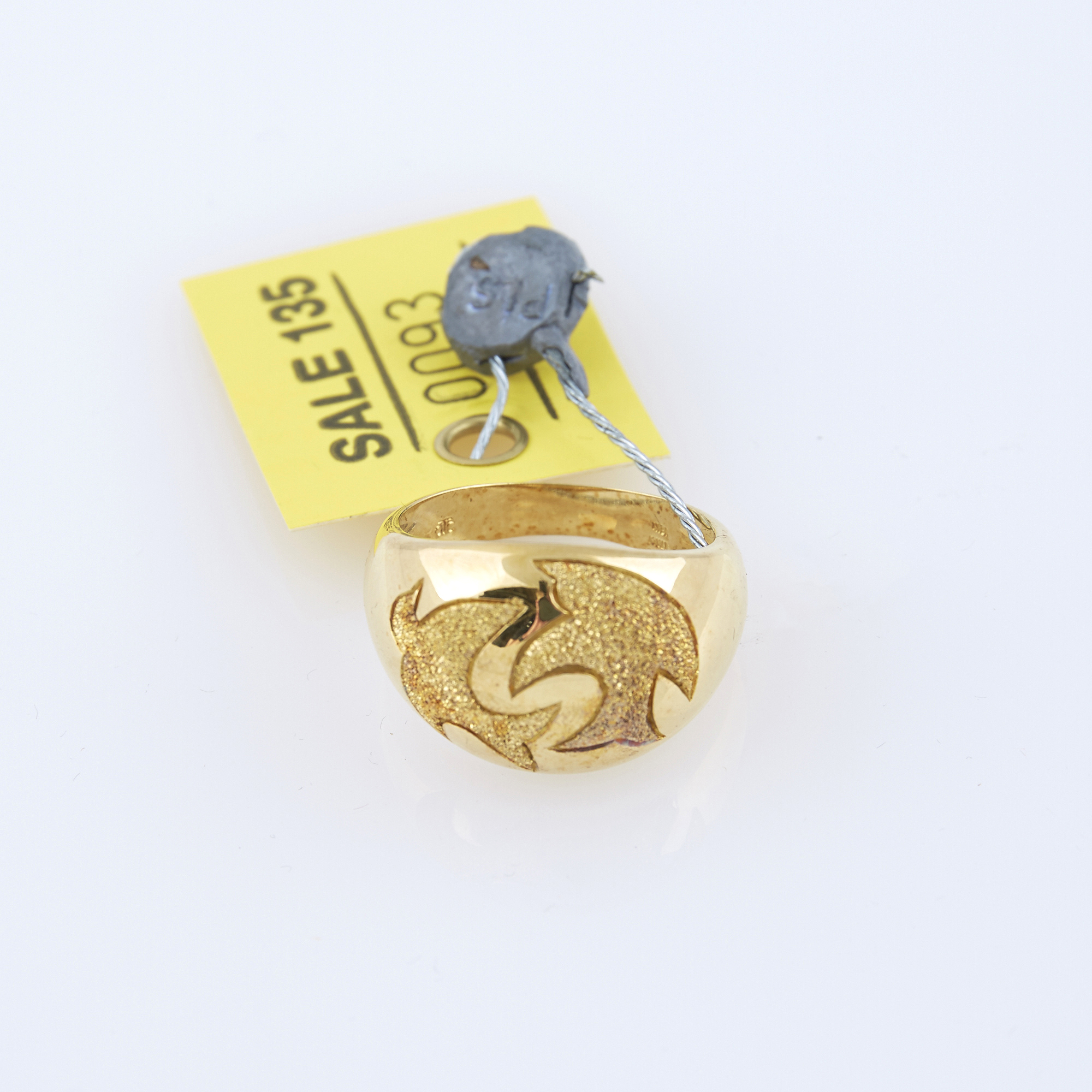 Lot image - Gold Ring, 18K 6 dwt.