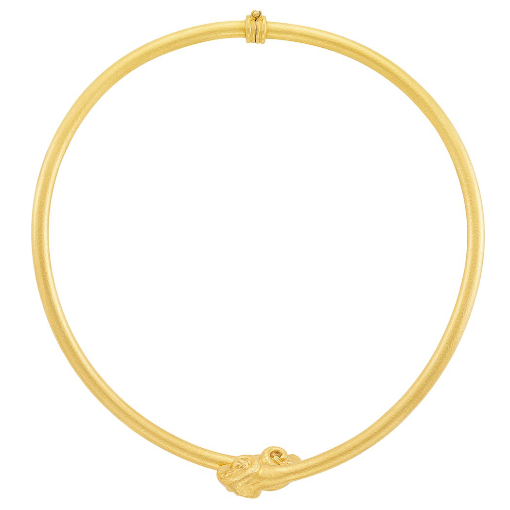 Lot image - High Karat Gold Choker Necklace, Zolotas