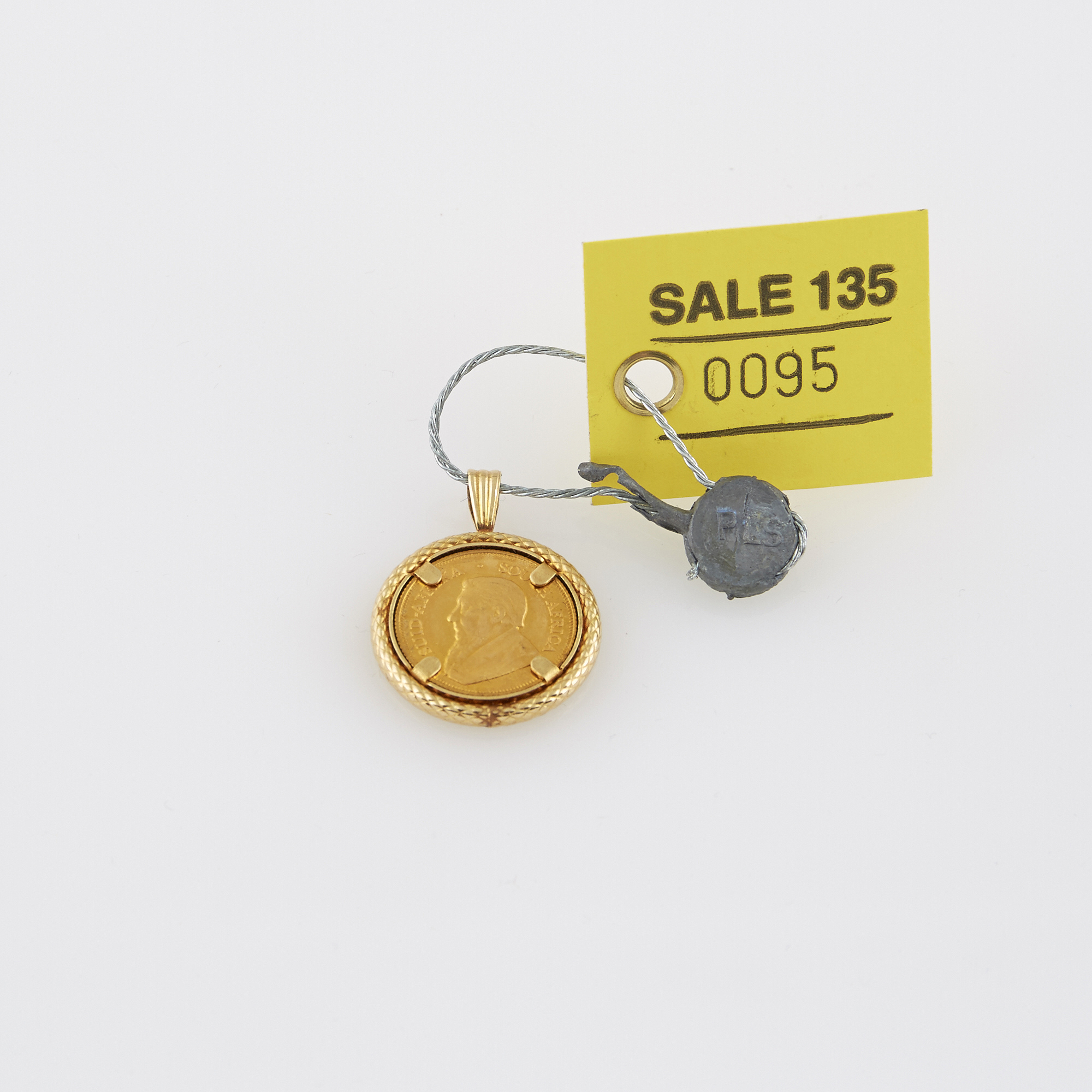 Lot image - Gold Coin Pendant, 22K and 14K 3 dwt. all