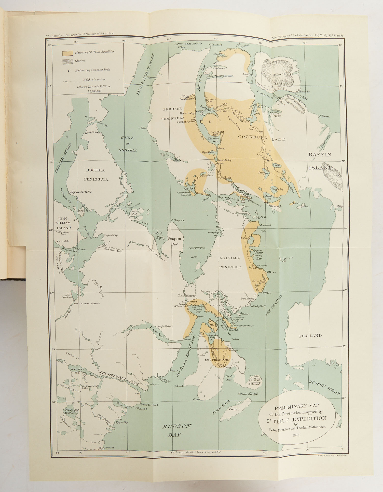 Lot image - [ALASKA/CANADA]  RASMUSSEN, KNUD. Across Arctic America. Narrative of the Fifth Thule Expedition.