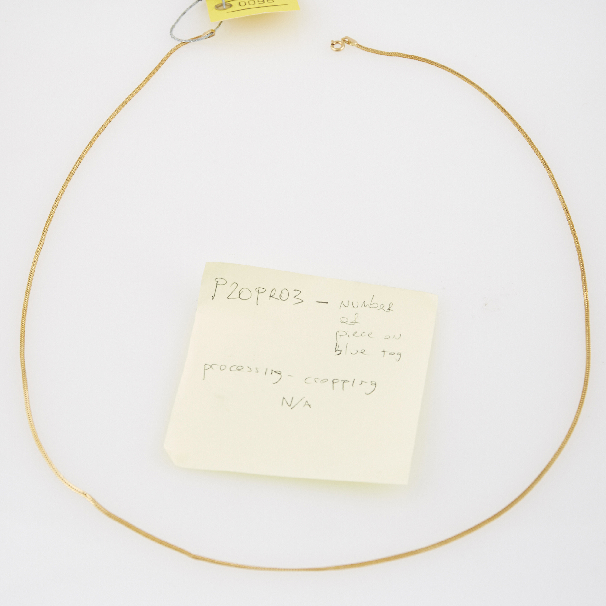 Lot image - Gold Neck Chain, 14K 3 dwt.