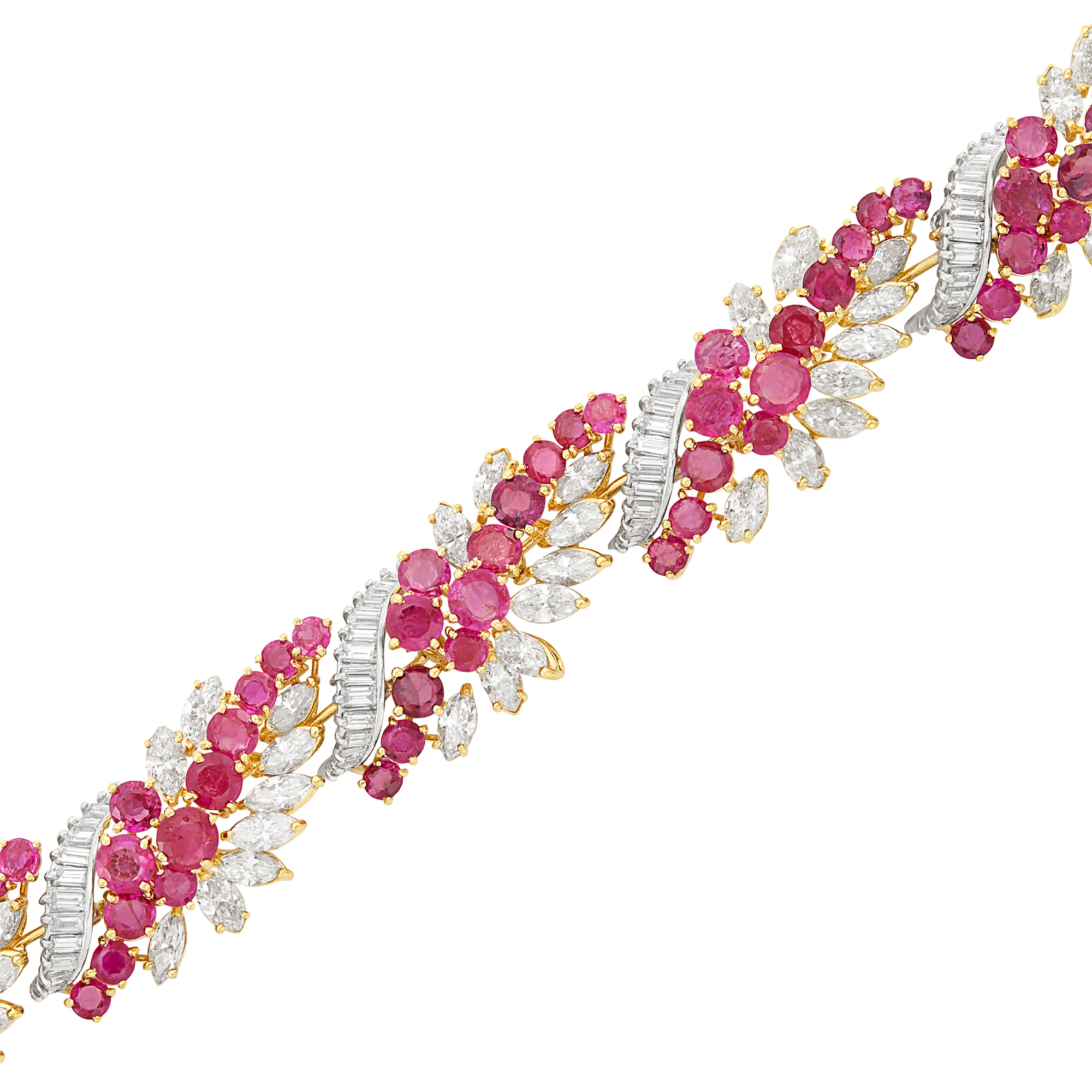 Lot image - Gold, Ruby and Diamond Bracelet