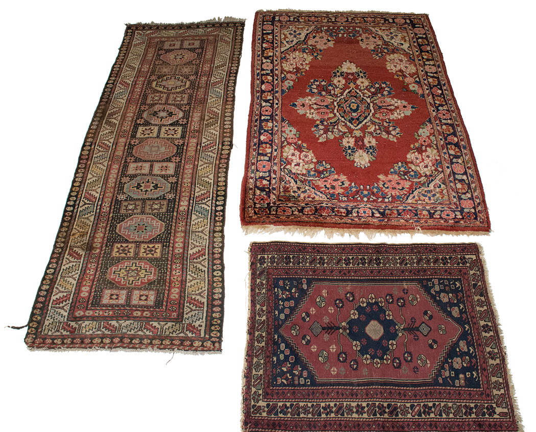 Lot image - Three Assorted Rugs