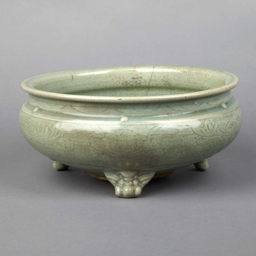 Lot image - Chinese Longquan Celadon Censer