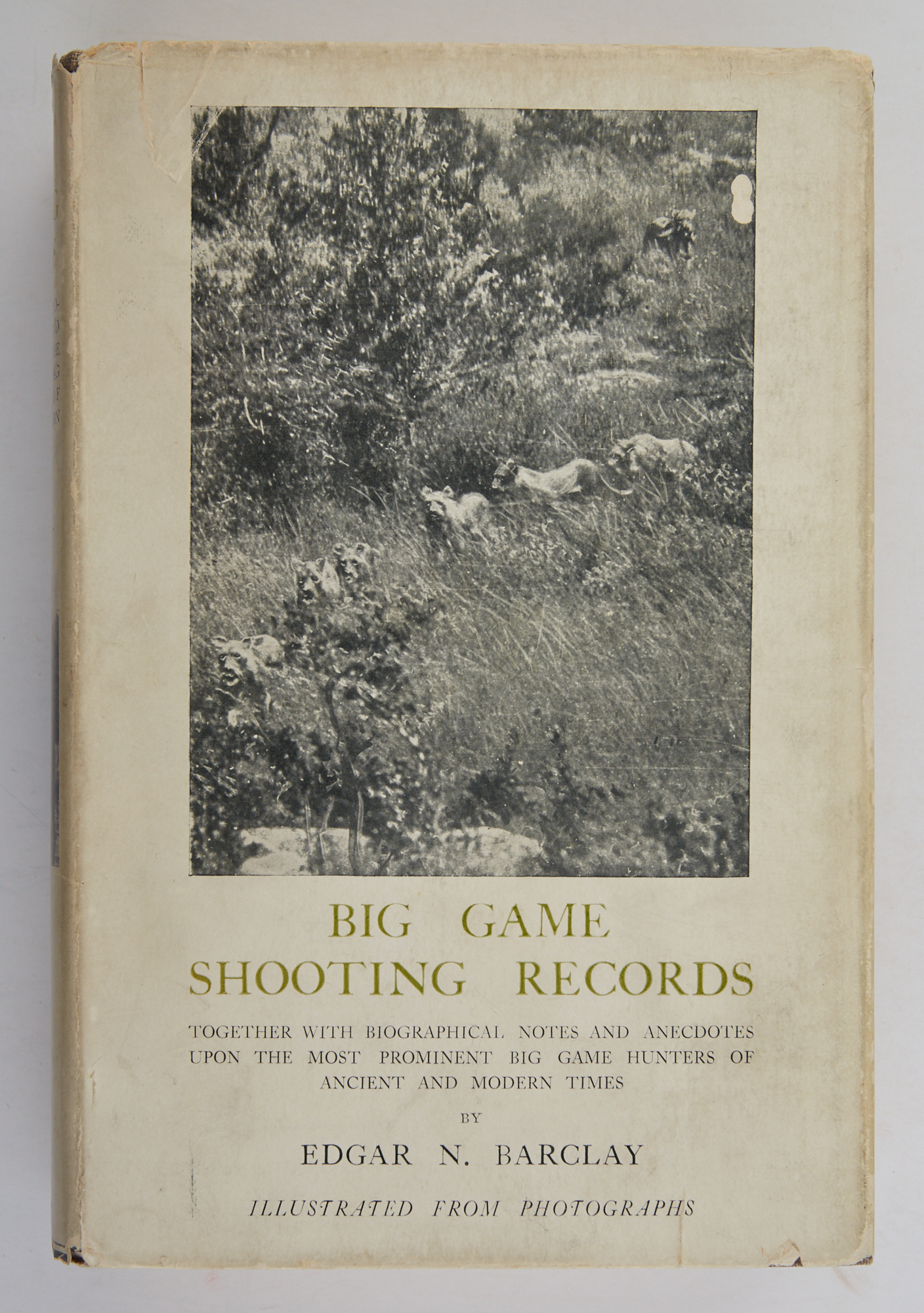 Lot image - BARCLAY, EDGAR N.  Big Game Shooting Records. Together with biographical notes and anecdotes on the most prominent big game hunters of ancient and modern times.
