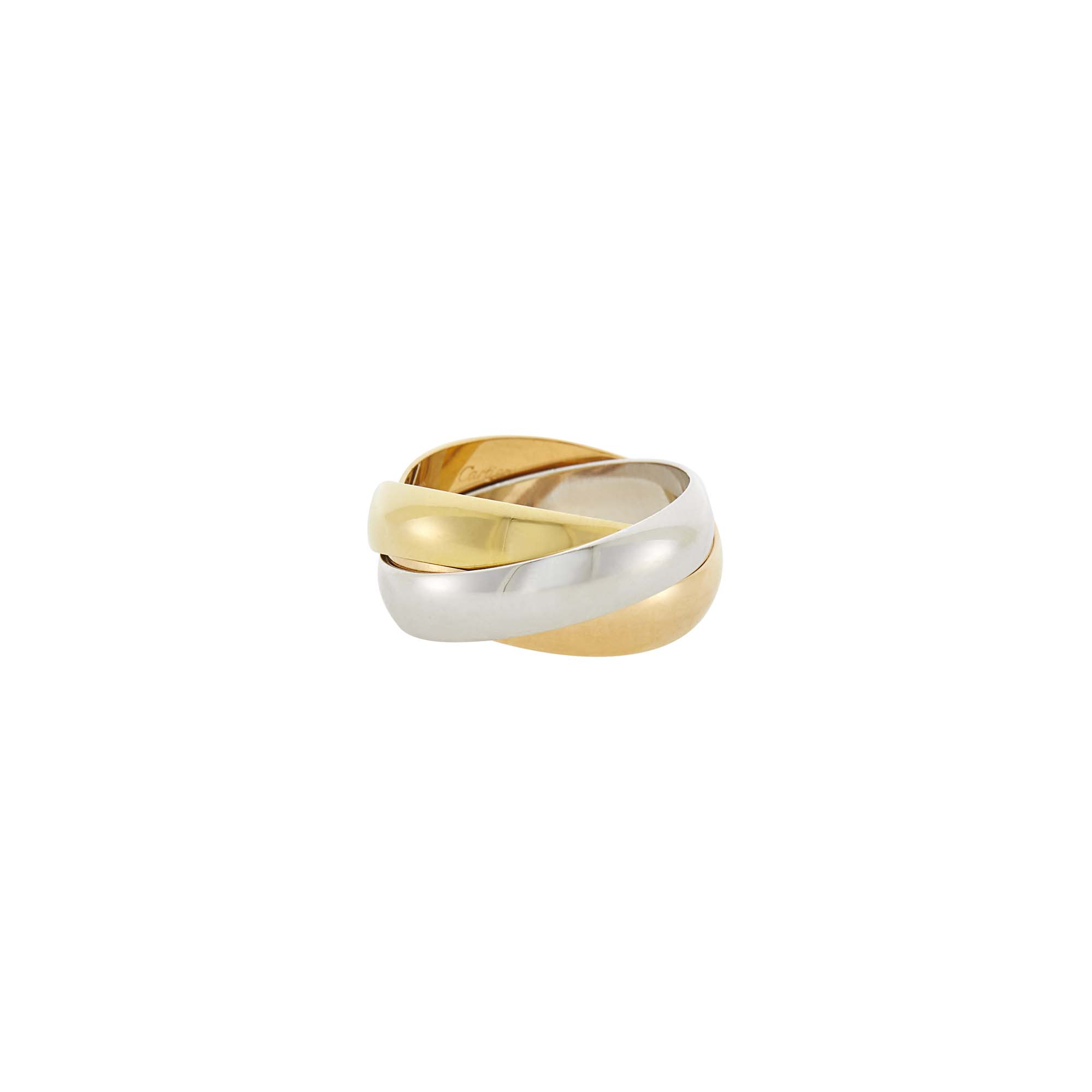 Lot image - Cartier Gentlemans Tricolor Gold Trinity Ring