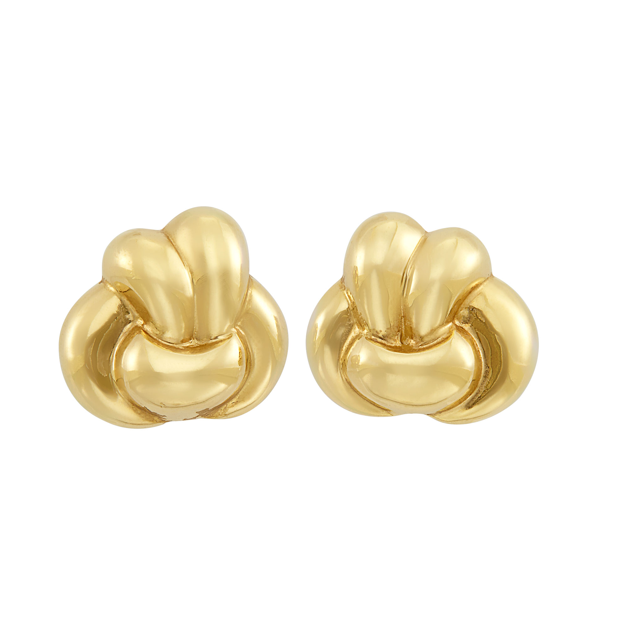 Lot image - Pair of Gold Knot Earclips, Verdura